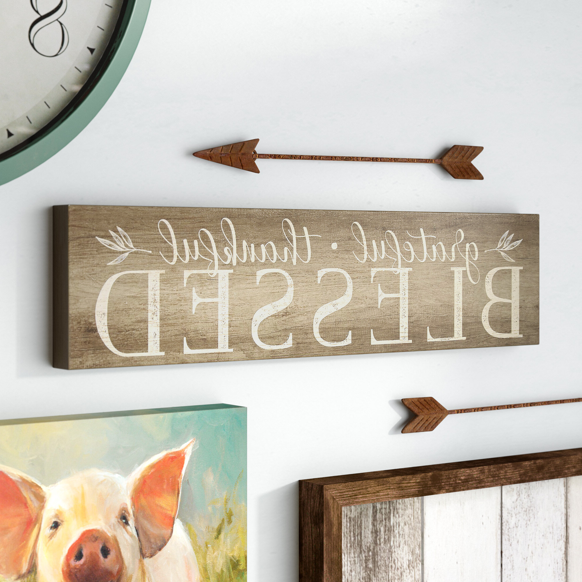 Featured Photo of Grateful, Thankful, Blessed Wall Decor