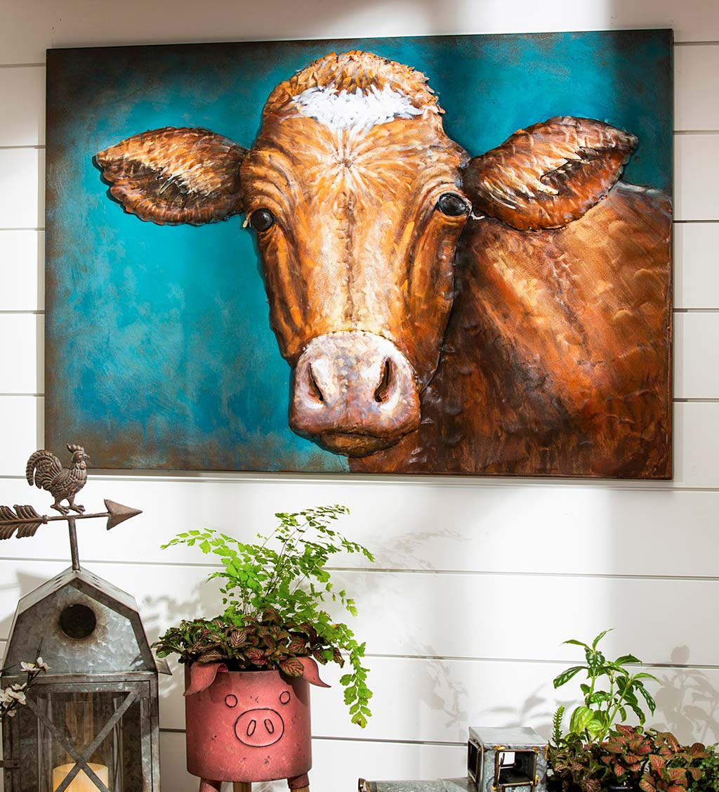 Most Popular Handcrafted Metal Wall Décor With Handcrafted Metal 3d Cow Wall Art (View 13 of 20)