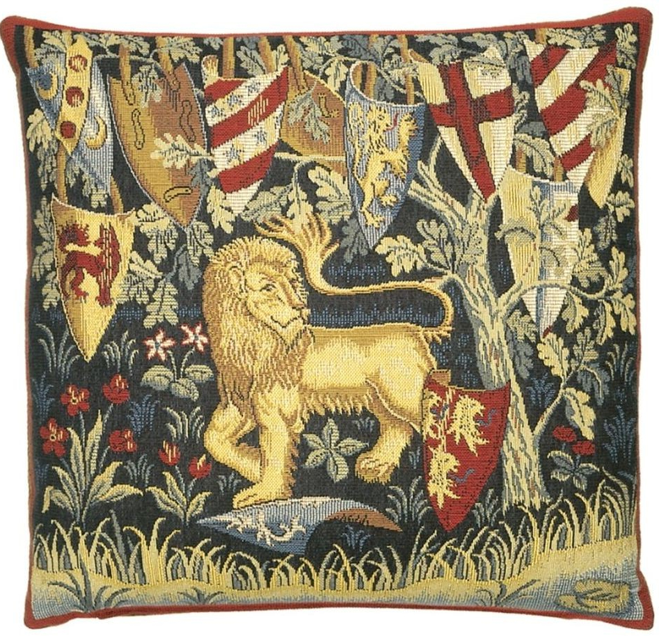 Most Popular King Arthur Lion Pillow Cover Throughout Lion I European Tapestries (View 10 of 20)