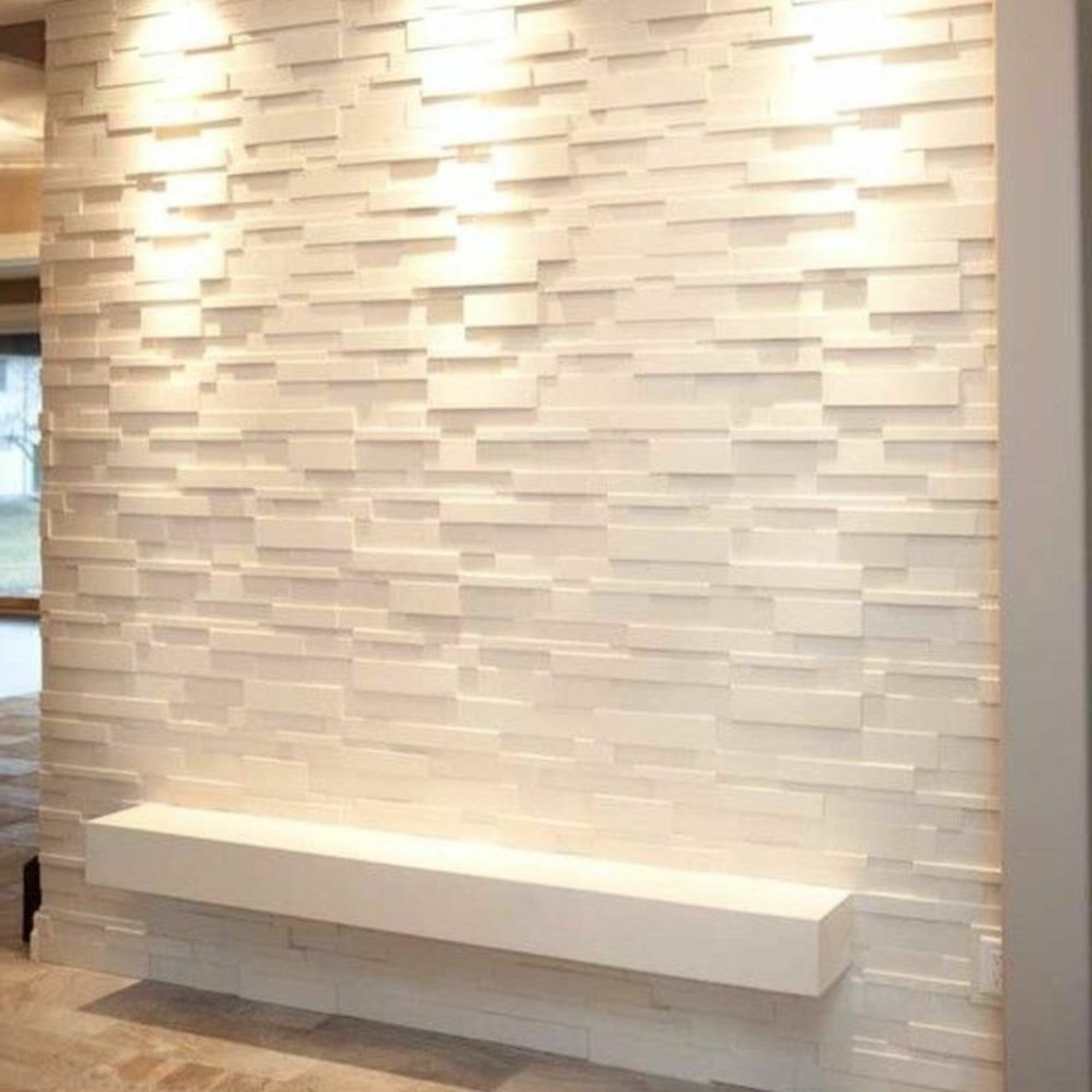 """Most Popular Latitude Run 20"""" X 20"""" Vinyl Wall Paneling In White With Regard To Wall Décor By Latitude Run (View 6 of 20)"""