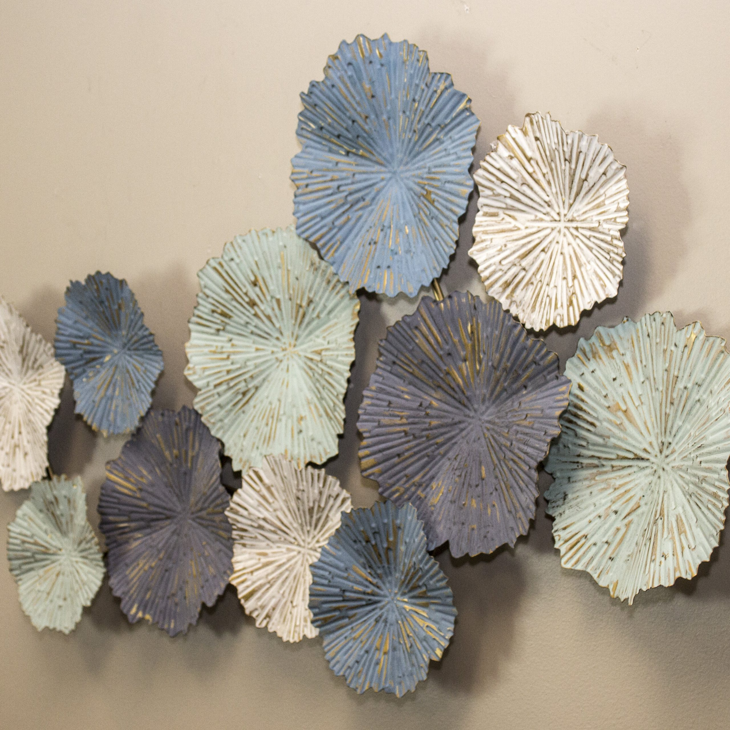Most Popular Modern Metal Wall Décor With Regard To Sand Dollar Cluster Wall Décor (View 8 of 20)
