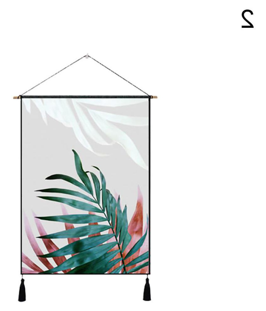 Most Popular Nordic Palm Leaves Tassel Cloth Tapestry Wall Hanging Regarding Blended Fabric Leaf Wall Hangings (View 9 of 20)