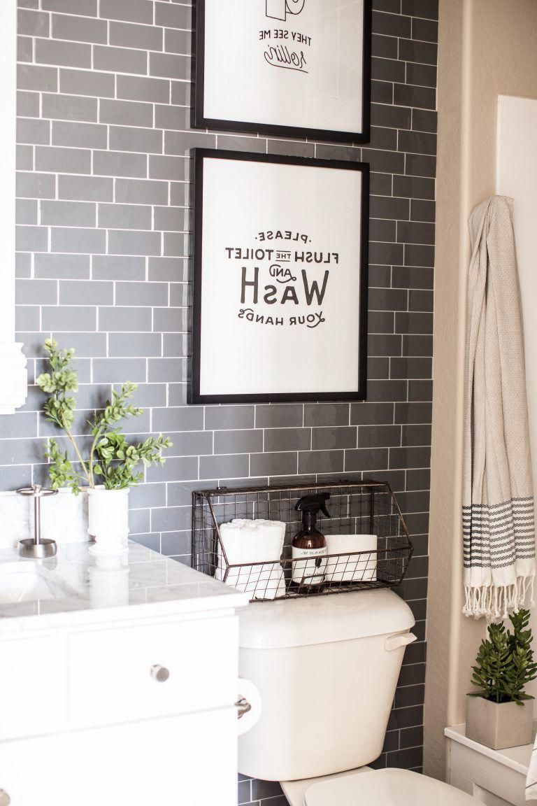 Most Popular Pin On Bathroom Decor Within Cheng Wash Your Hands Hashtag Bathroom Wall Plaque (View 9 of 20)