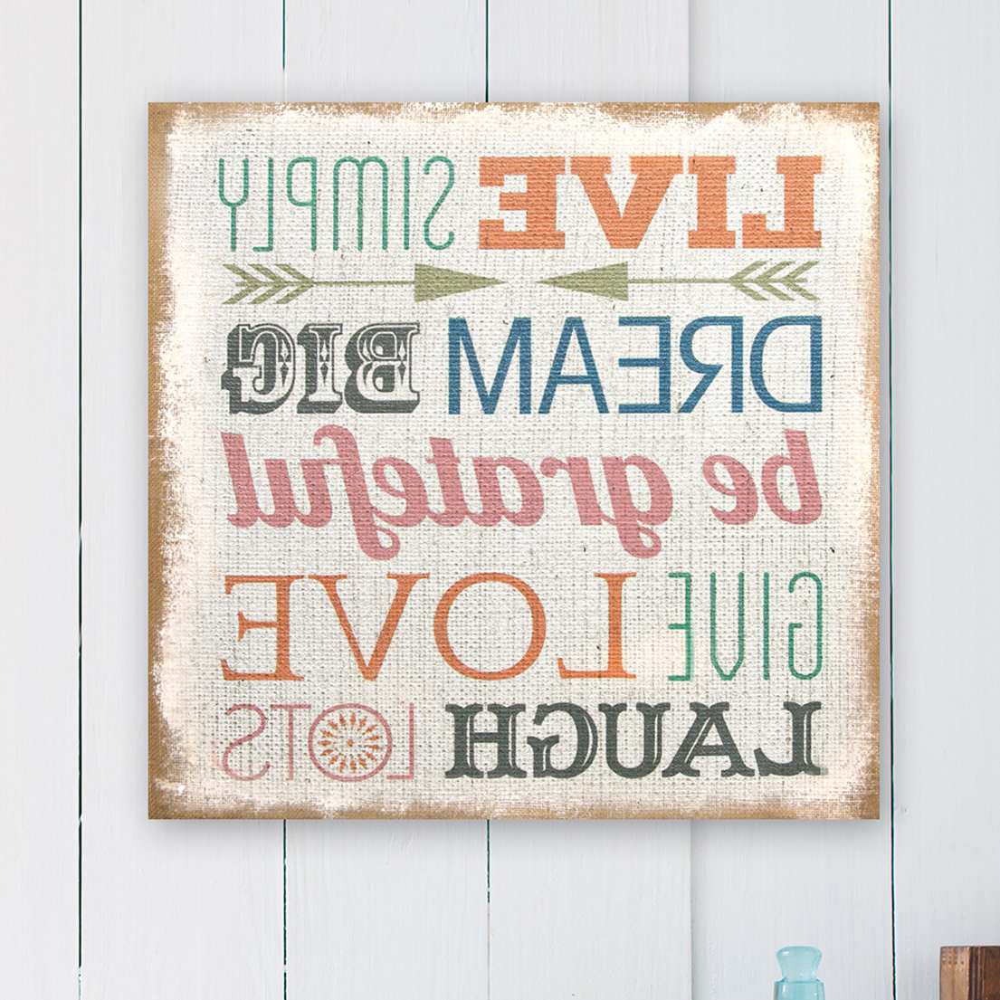 Most Popular Rings Wall Décor By Stratton Home Decor Pertaining To Love Simply Typography Burlap Wall Décor (View 19 of 20)