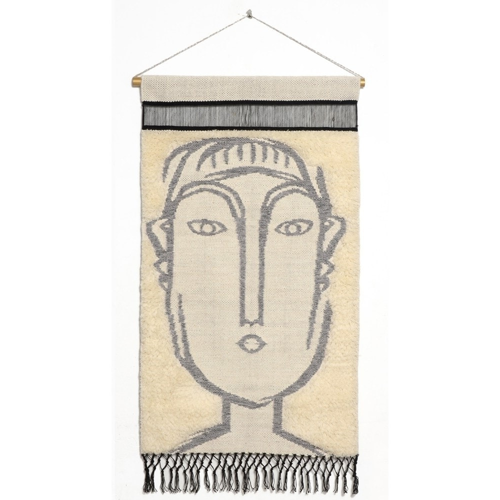 """Most Popular Rugsmith Gray Matisse Contemporary Modern Wall Hanging, 2'1"""" X 3'4"""" Intended For Blended Fabric Southwestern Bohemian Wall Hangings (View 17 of 20)"""
