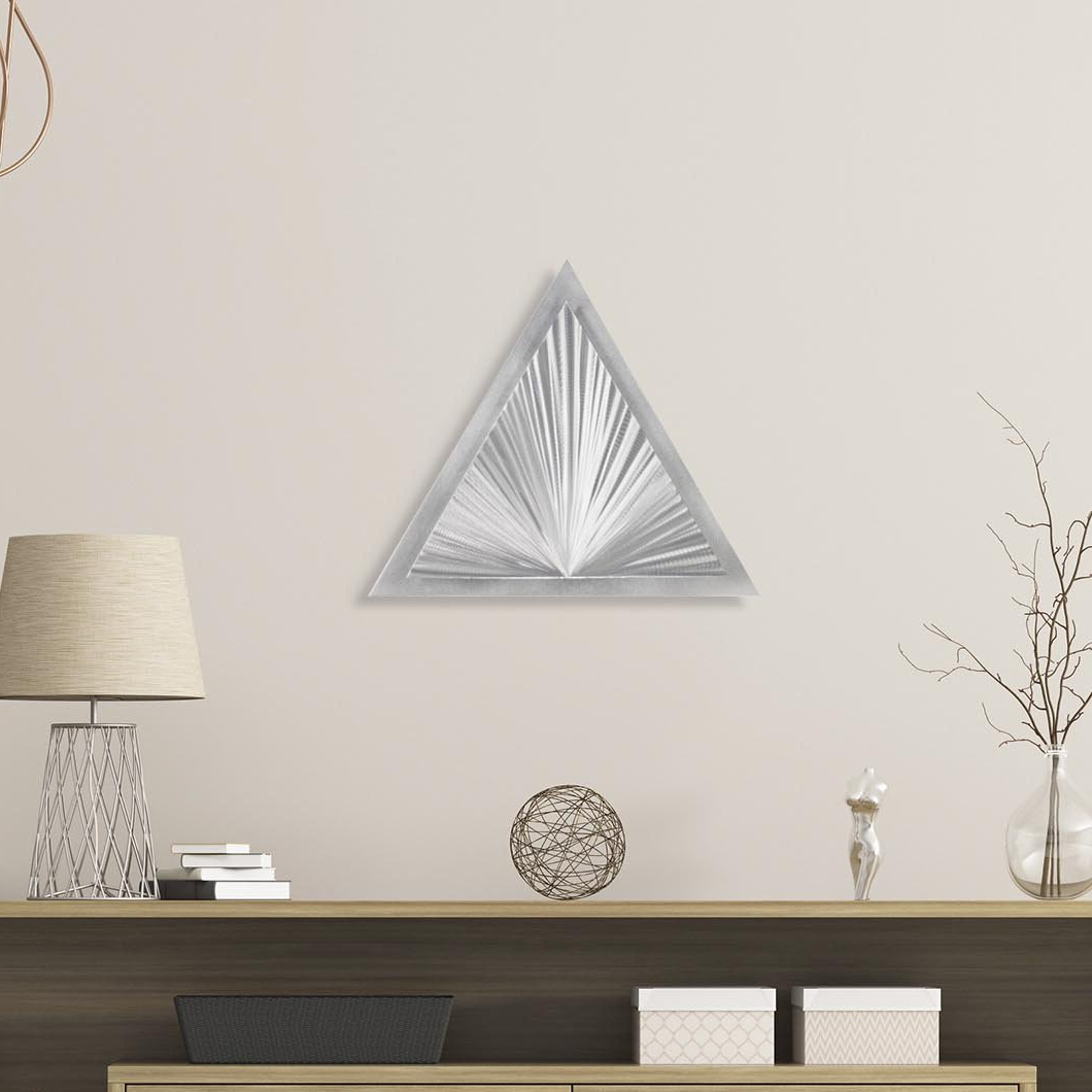 Most Popular Shining Angle Metal Wall Décor With Regard To Graceful Wall Décor By Orren Ellis (View 2 of 20)