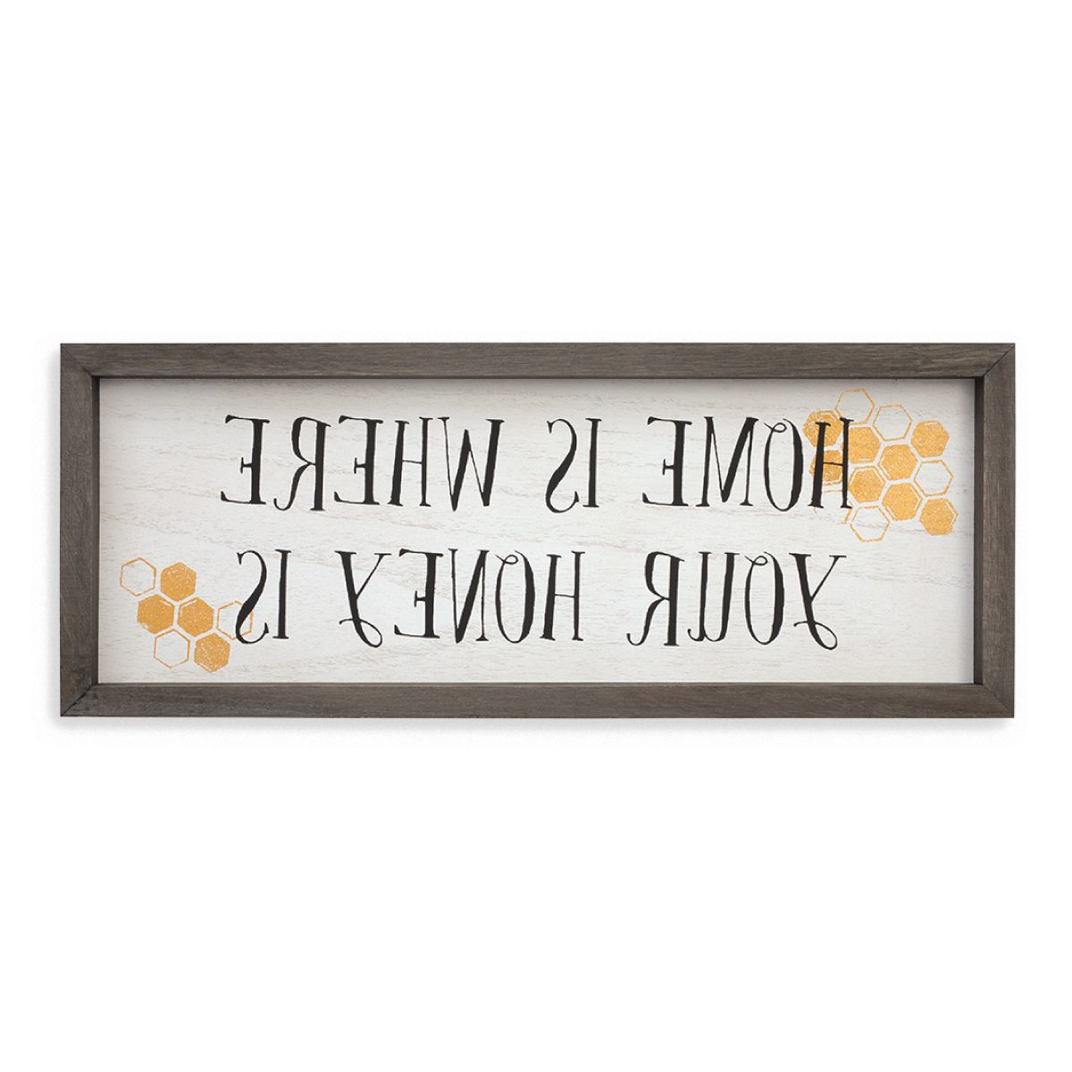 """Most Popular The Bee's Knees Collection—home Is Where Your Honey Is Throughout Heart Shaped """"welcome"""" Sign Wall Décor By August Grove (View 12 of 20)"""
