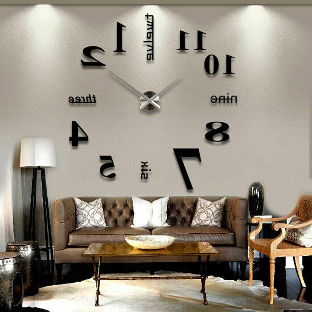 Most Popular Wall Décor By Charlton Home Regarding 3d Mirror Surface Large Wall Clock Modern Diy Sticker Home Decor Art Design (View 18 of 20)