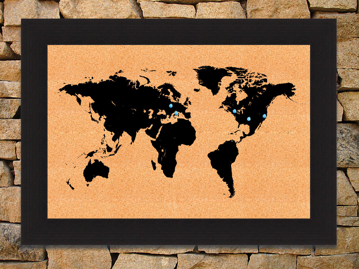 Most Popular Wall Mounted World Map Sculpture By Alcott Hill Intended For World Map Wall Mounted Bulletin Board (View 4 of 20)
