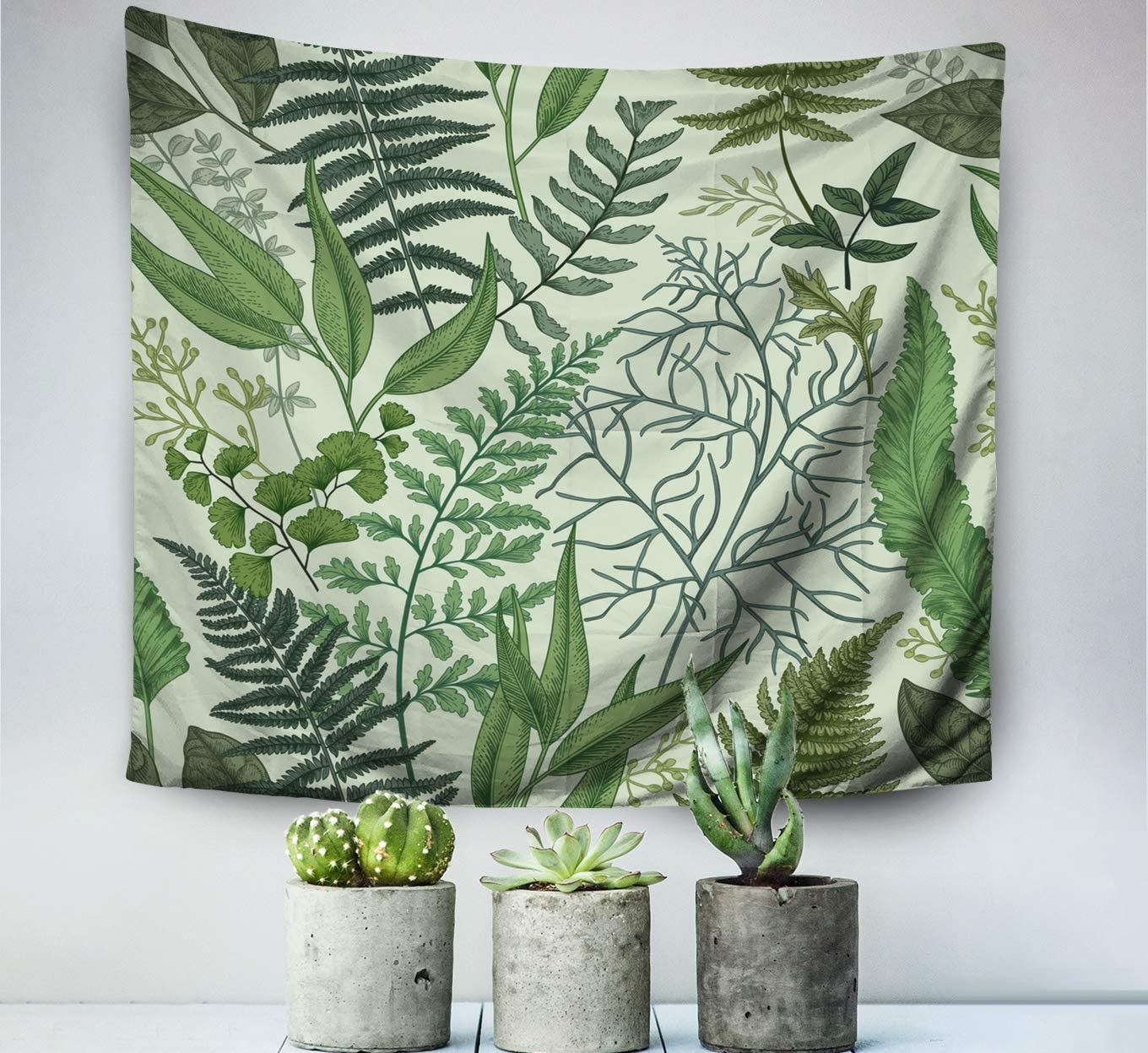 Featured Photo of Blended Fabric Leaf Wall Hangings