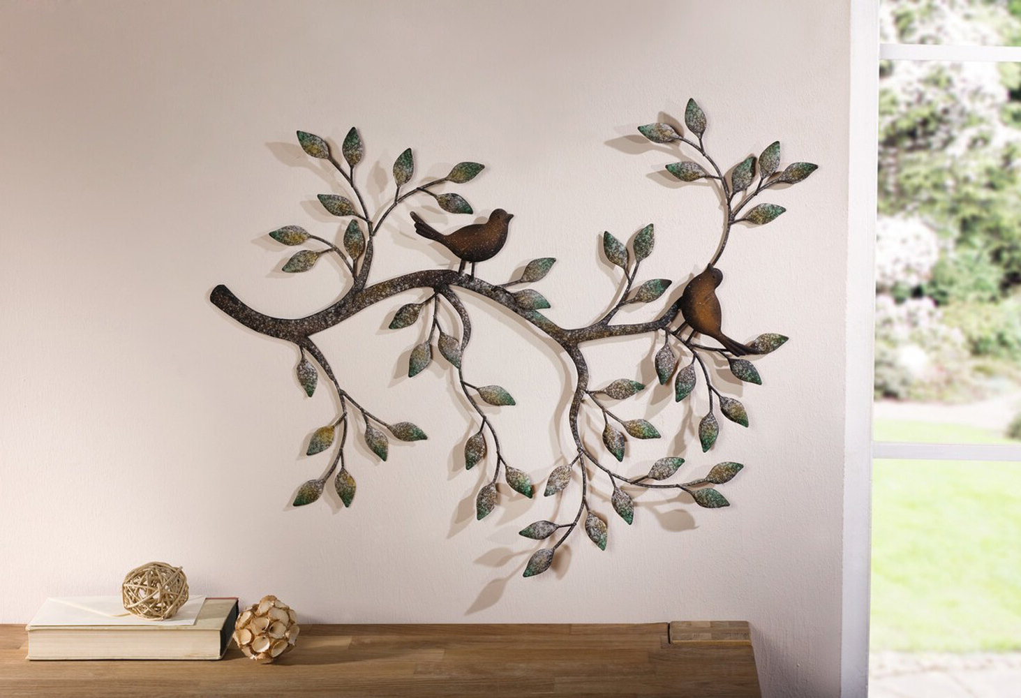 Most Recent Birds On A Wire Wall Décor By Winston Porter Inside Branches With Birds Metal Wall Décor (View 4 of 20)