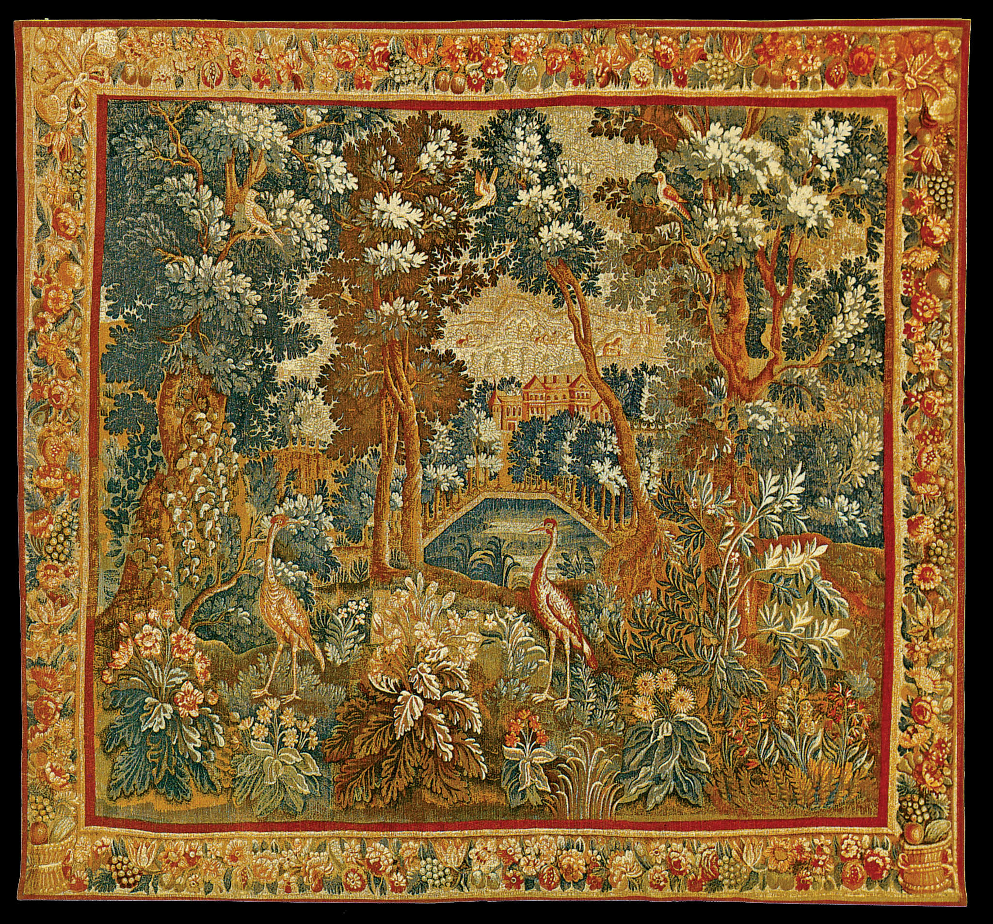 Most Recent Blended Fabric Ethereal Days Chinoiserie Wall Hangings With Rod Intended For The Two Herons Tapestry (View 8 of 20)