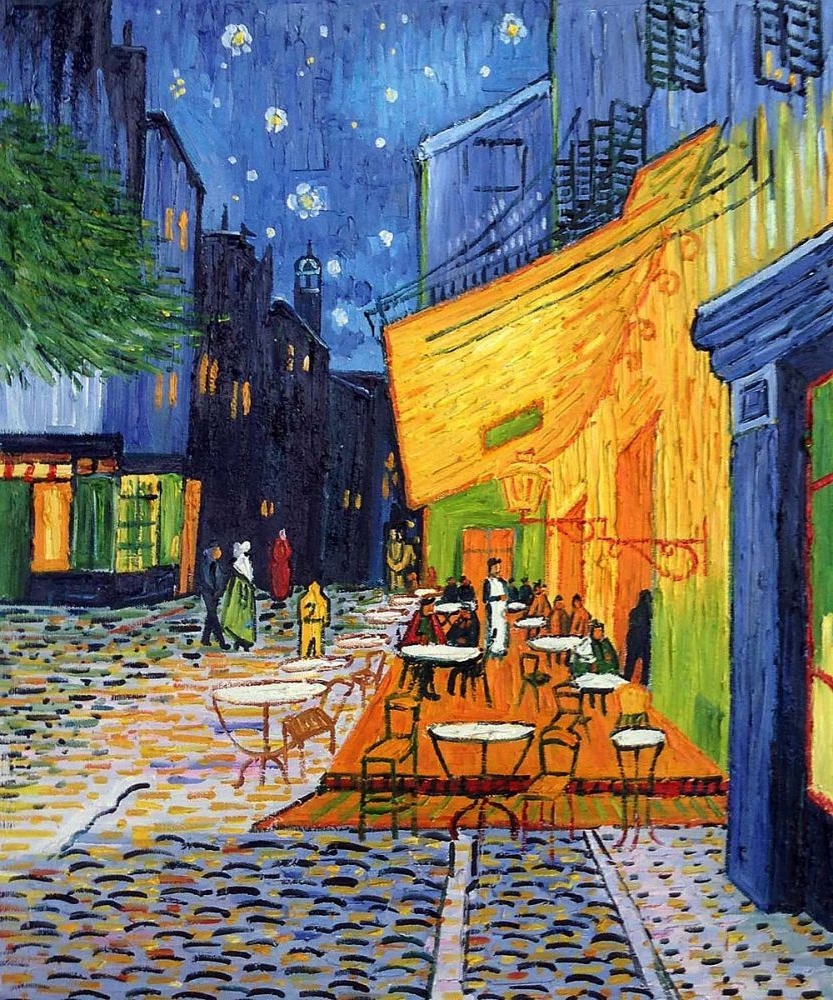 Most Recent Blended Fabric Van Gogh Terrace Wall Hangings Intended For Cafe Terrace At Night – Vincent Van Gogh Painting At (View 8 of 20)