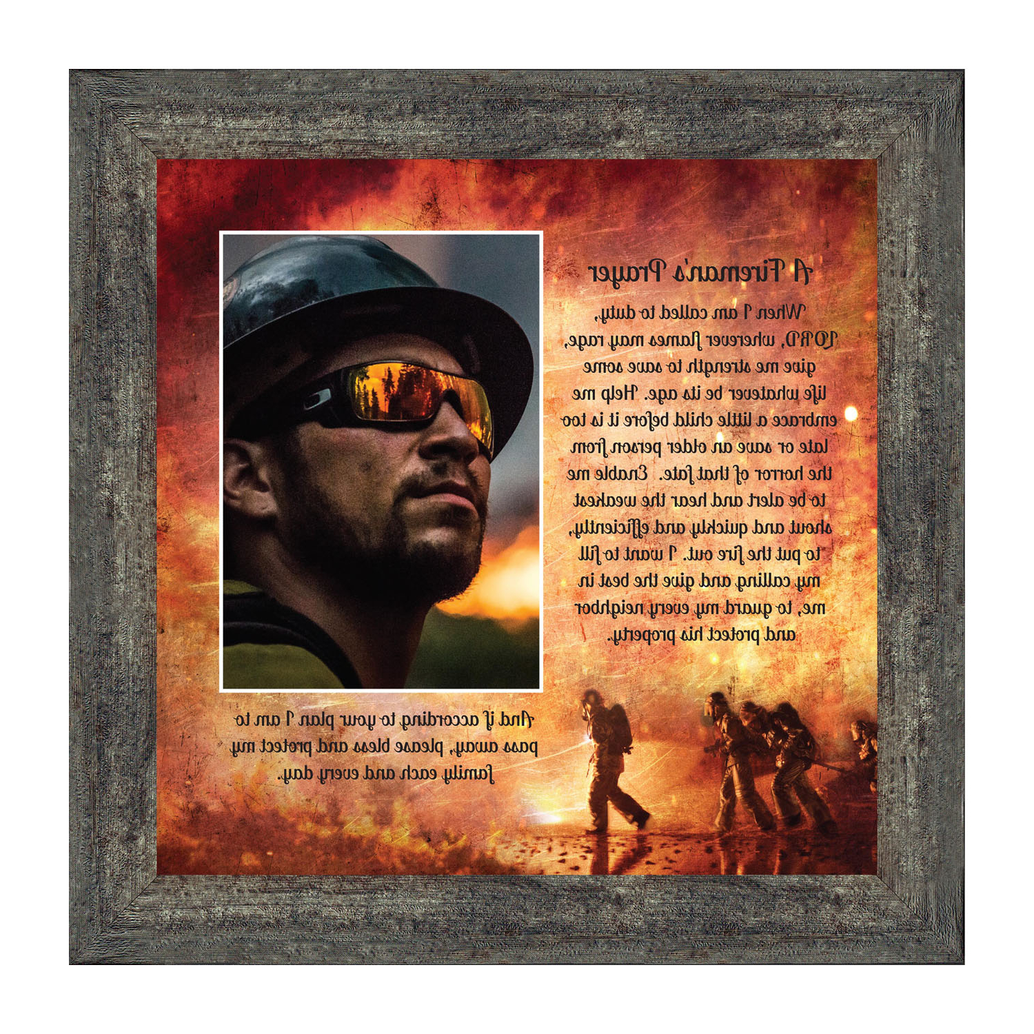 Most Recent Firefighter Gifts For Men And Women, Fire Academy Graduation Gift, Fire Fighter Gifts Or Firehouse Decor, A Fireman's Prayer Framed Wall Art For Home With A Fireman Prayer Wall Hangings (View 12 of 20)