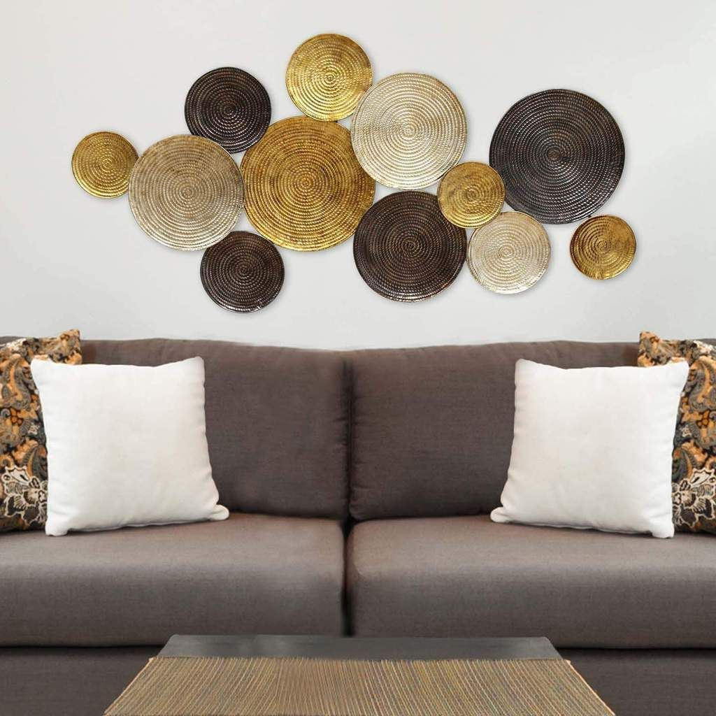 Most Recent Multi Circles Gold, Copper, Silver Wall Décor (com Imagens Within Multi Circles Wall Décor (View 2 of 20)