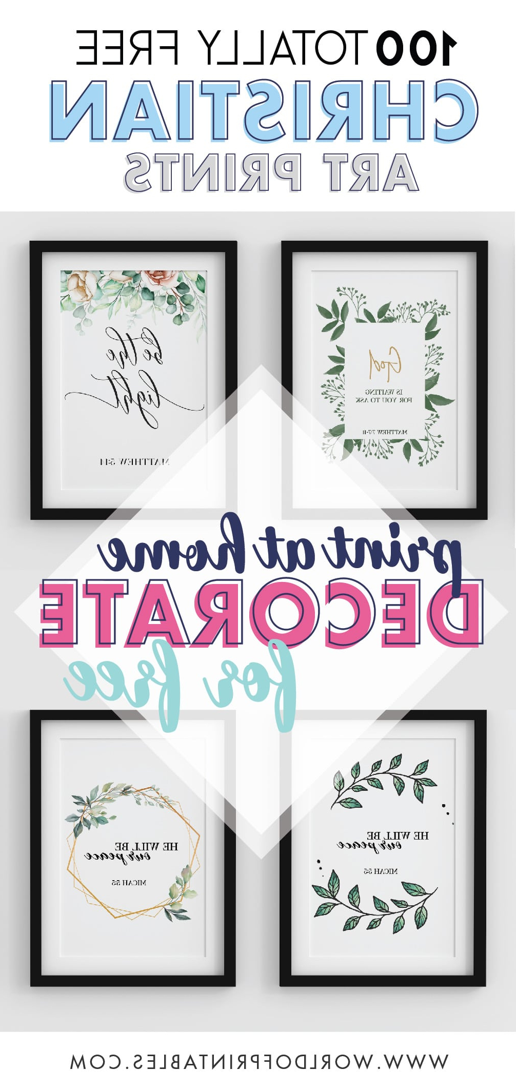 Most Recent Peace I Leave With You Wall Hangings Intended For 100 Free Printable Bible Quotes And Verse Wall Art – World (View 20 of 20)