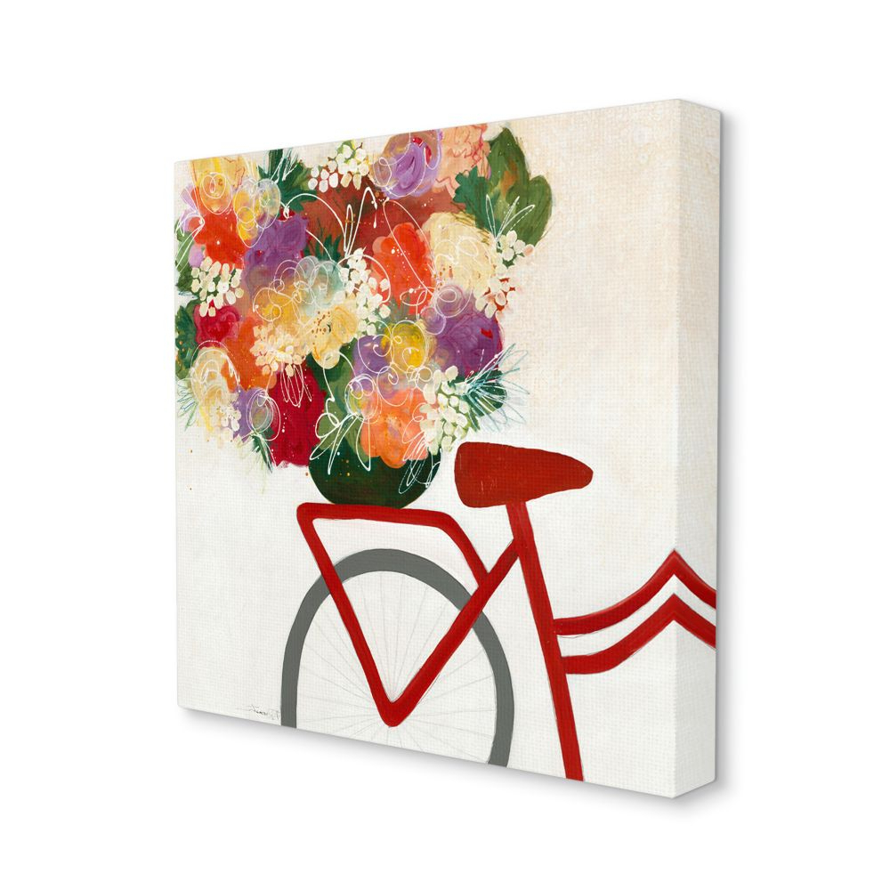 Most Recent Stupell Industries Bicycle Seat Floral Bouquet Whimsical Flower Lines Canvas Wall Art Designthird And Wall – Walmart Inside Whimsical Flower Wall Décor (View 17 of 20)