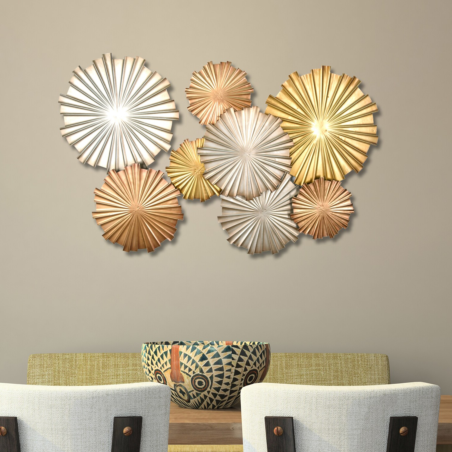 Most Recent The Curated Nomad Sybil Multi Metallic Circles Wall Decor Regarding Multi Circles Wall Décor (View 7 of 20)