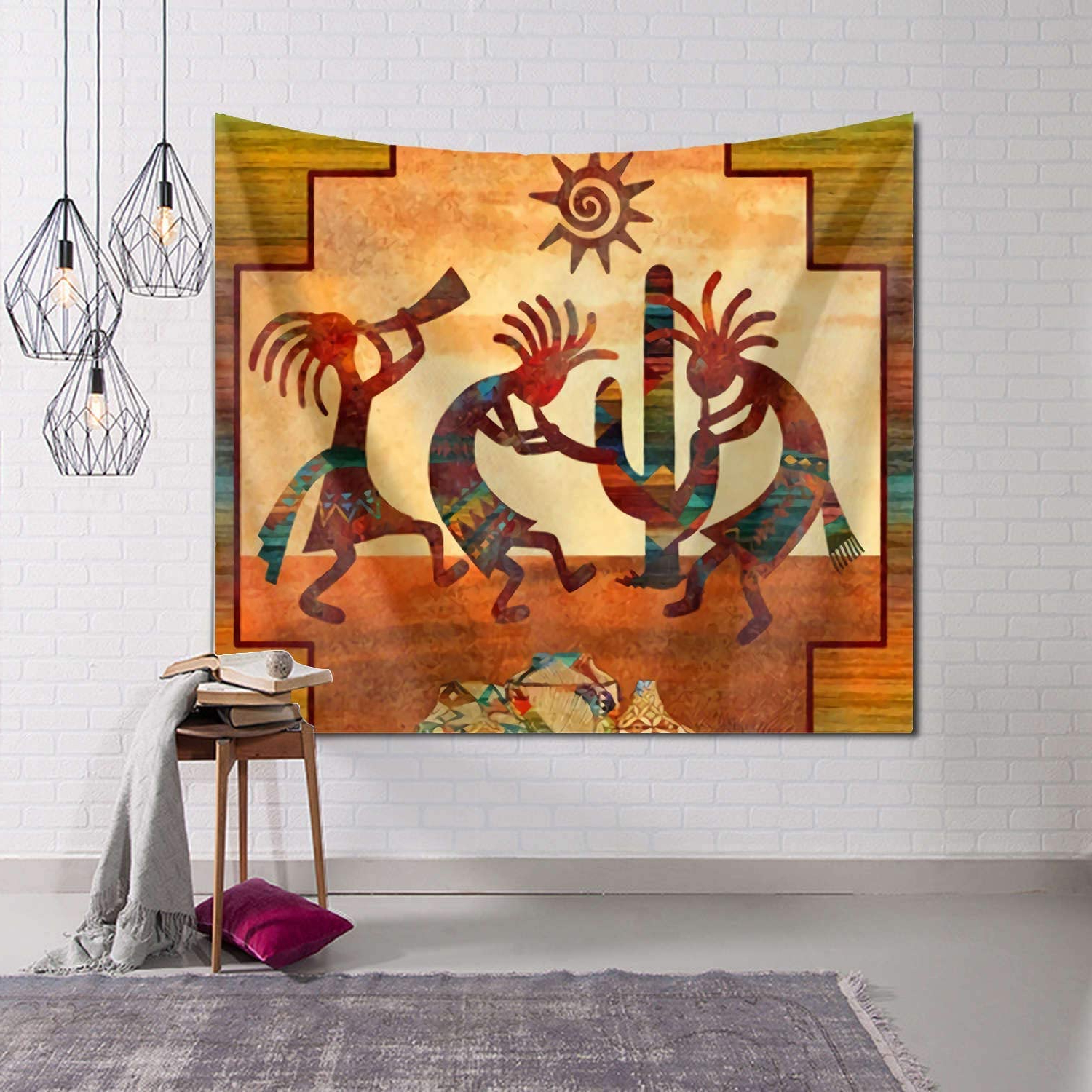 Most Recent Tidyki Southwest Native American Kokopelli Tapestry Wall Hanging Hippie Blanket Tapestries Home Decorations For Bedroom Living Room Dorm Decor 60x90 Throughout Blended Fabric Southwestern Bohemian Wall Hangings (View 7 of 20)