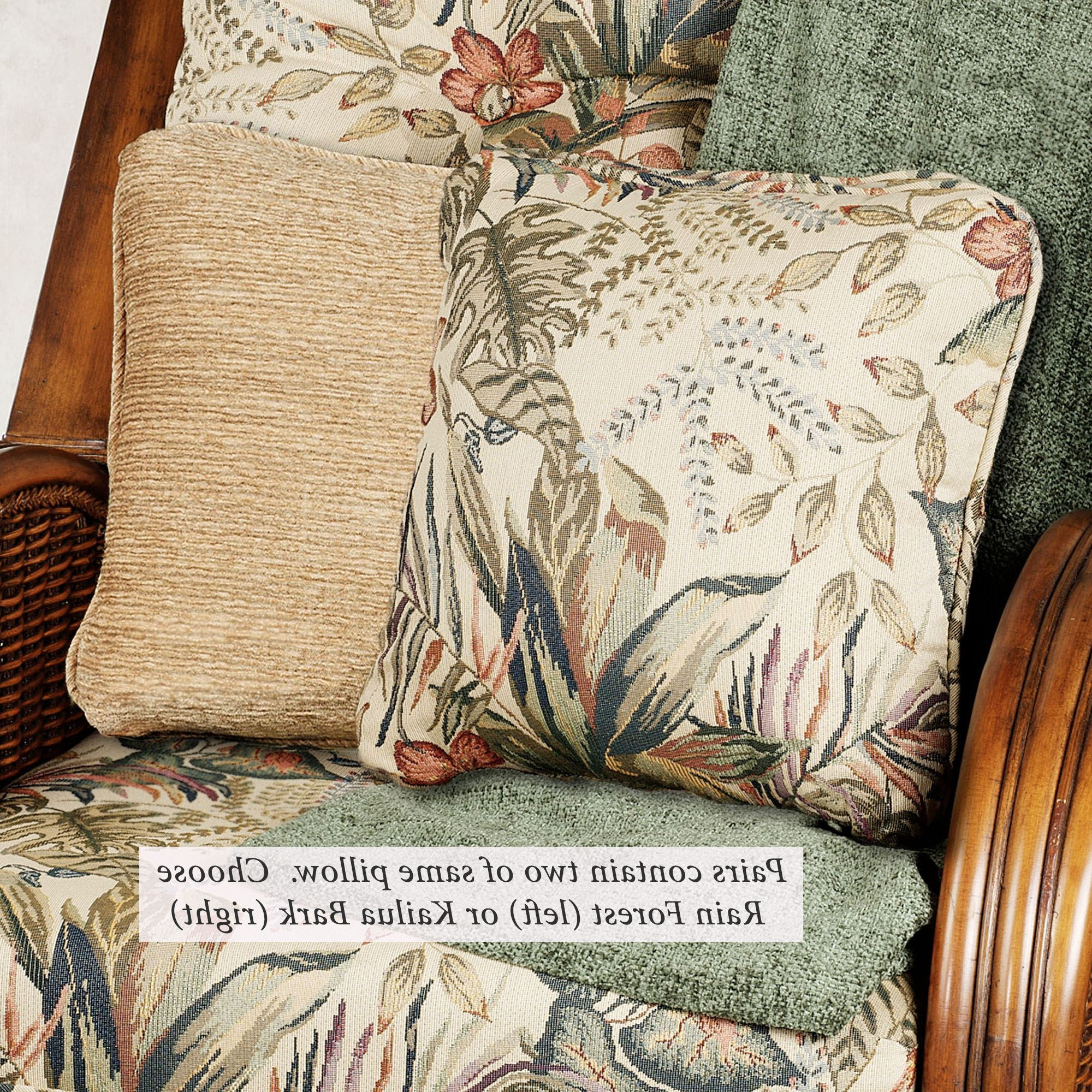 Most Recent Tropical Pomona Pillow Pairs Throughout Blended Fabric The Pomona Wall Hangings (View 5 of 20)