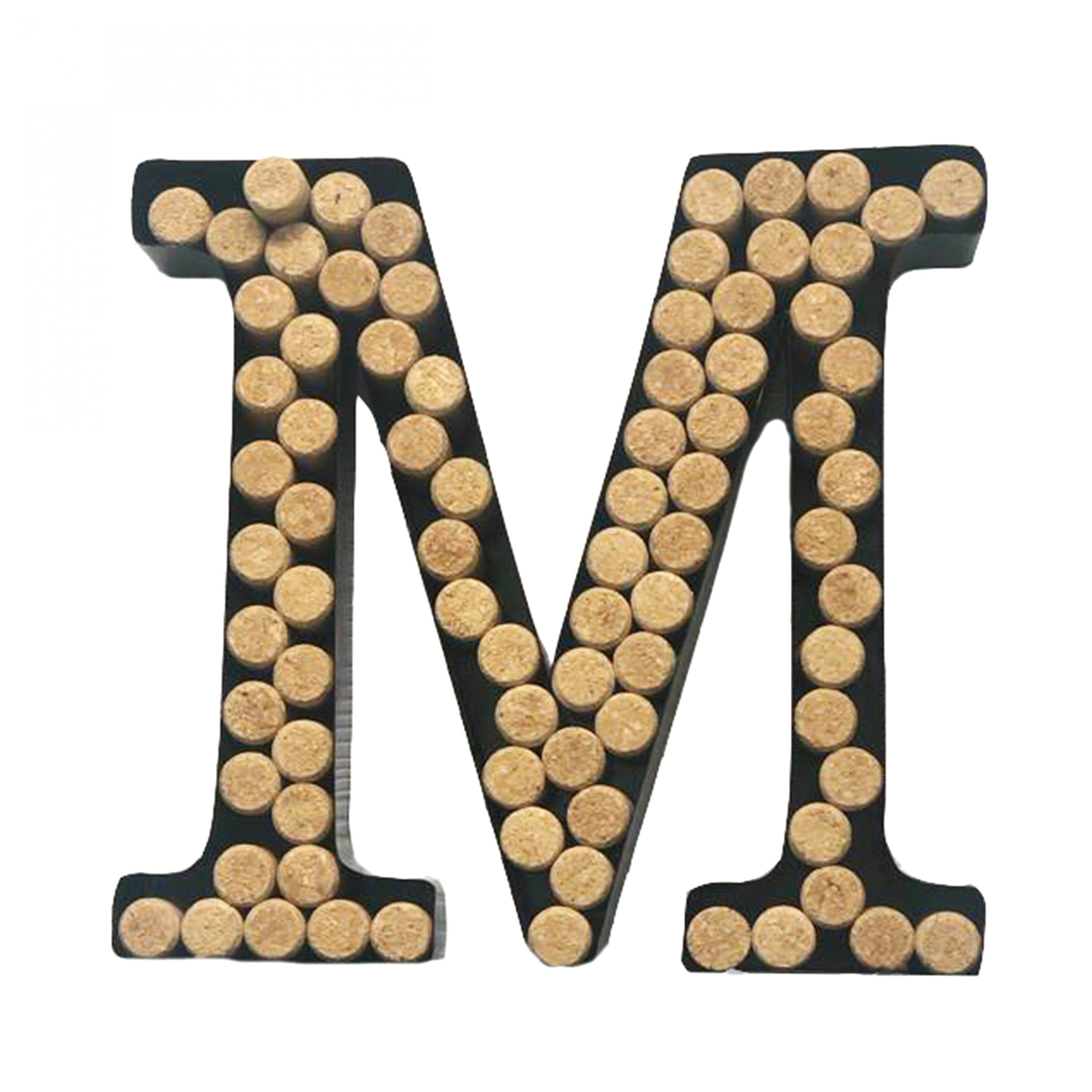 "Most Recently Released 4 Piece ""wine"" Letter Set Cork Holder Wall Décor Set Inside Decomil Wine Cork Holder (a Z) (letter M) (View 18 of 20)"