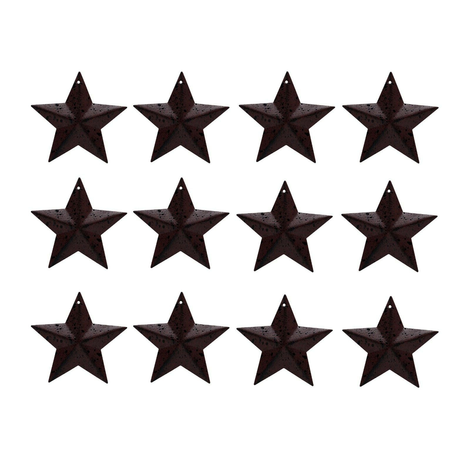 Most Recently Released Barn Star Wall Décor (set Of 2) In 2 1/2 Inch Primitive Small Metal Barn Star Home Wall/door Decor Gifts Set Of (View 13 of 20)