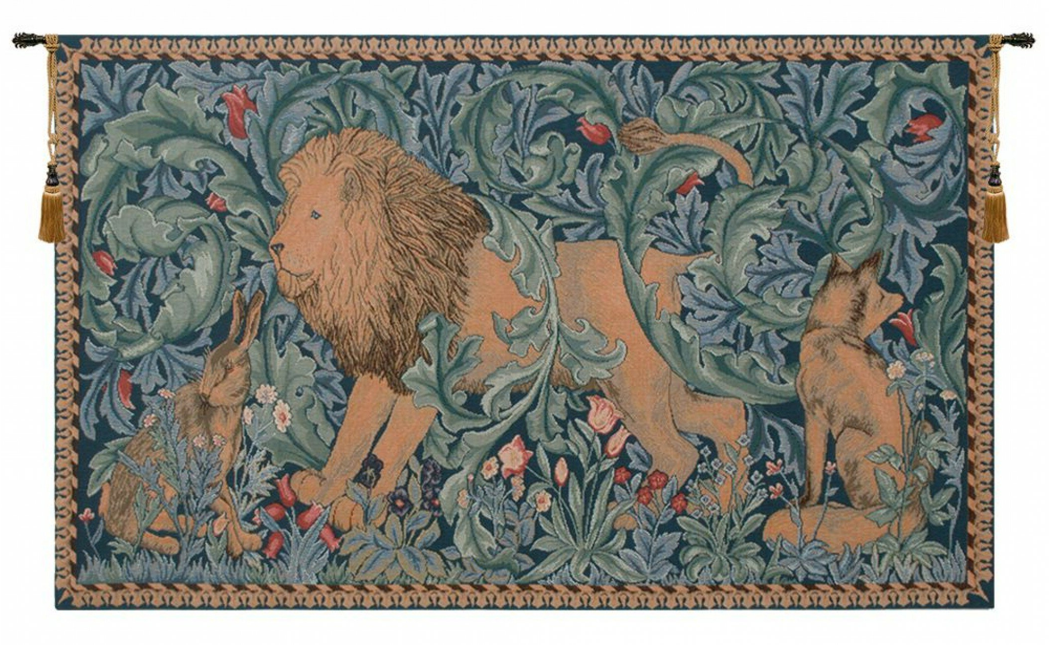 Most Recently Released Blended Fabric Ethereal Days Chinoiserie Wall Hangings With Rod Inside Lion I European Tapestry (View 12 of 20)