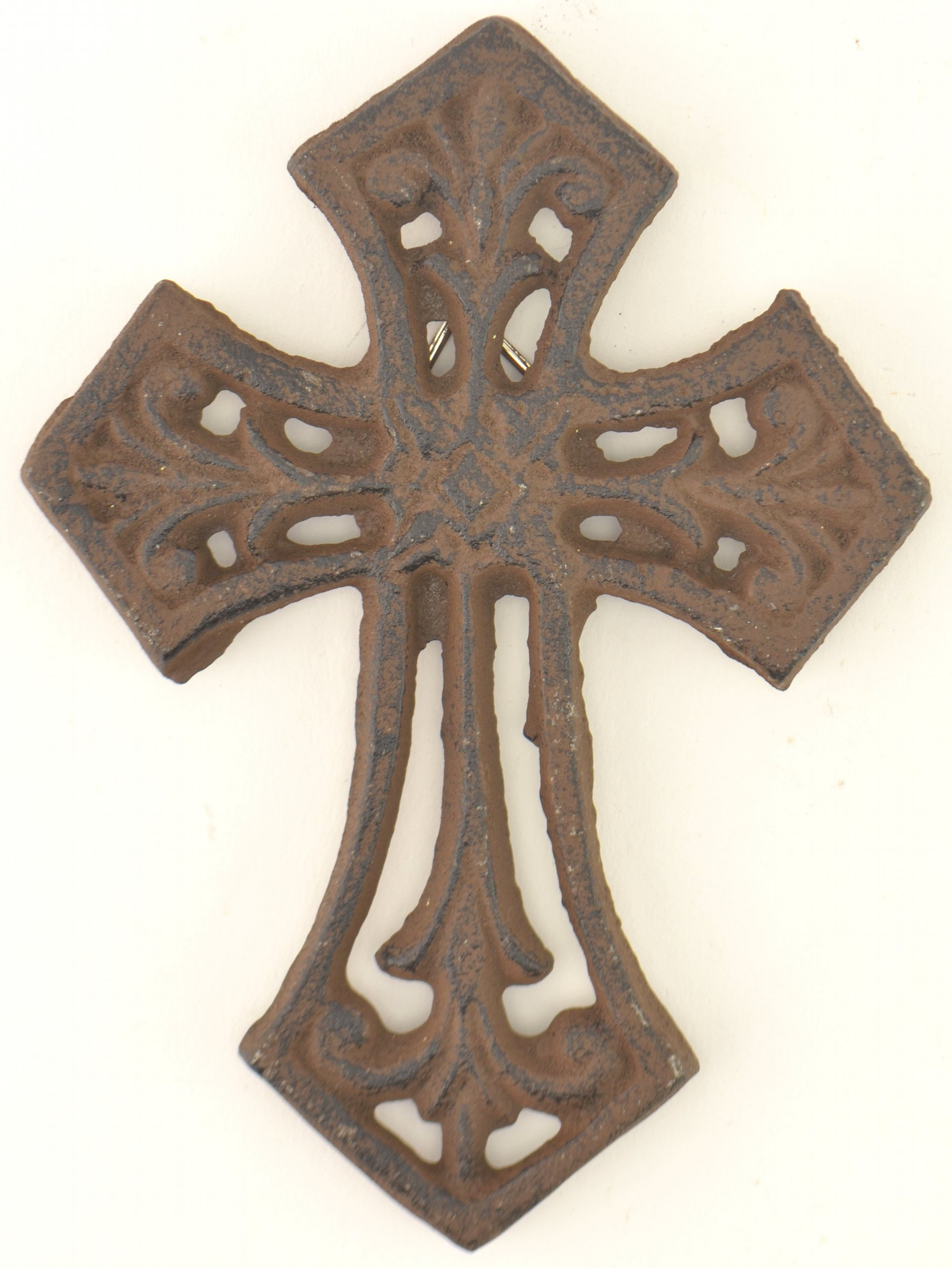 Most Recently Released Details About Cast Iron Cross Wall Hanging Antiqued Rust Color (View 2 of 20)