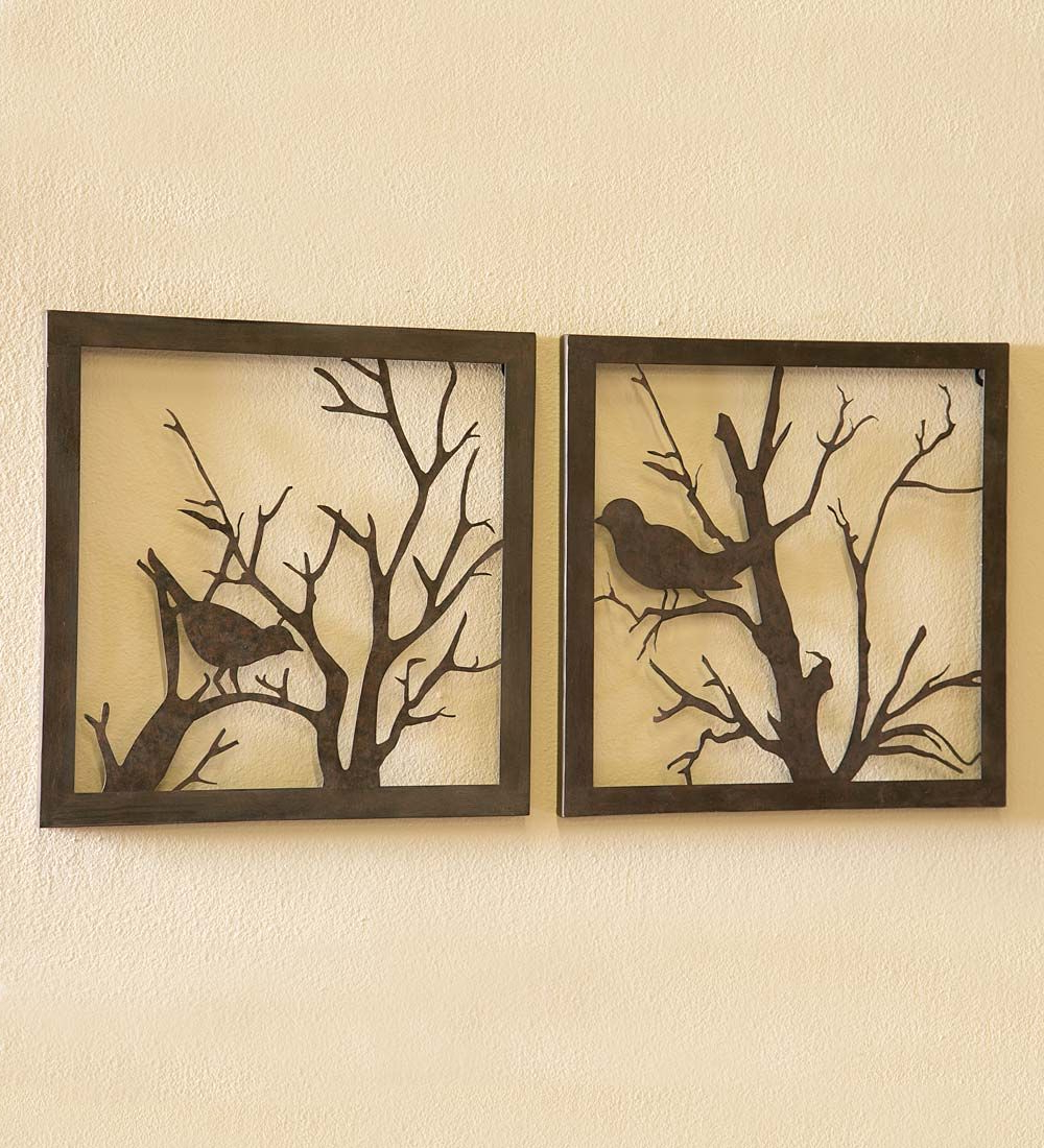 Most Recently Released Family Themed Creative Metal Wall Décor With Regard To Metal Bird Wall Art, Set Of (View 9 of 20)