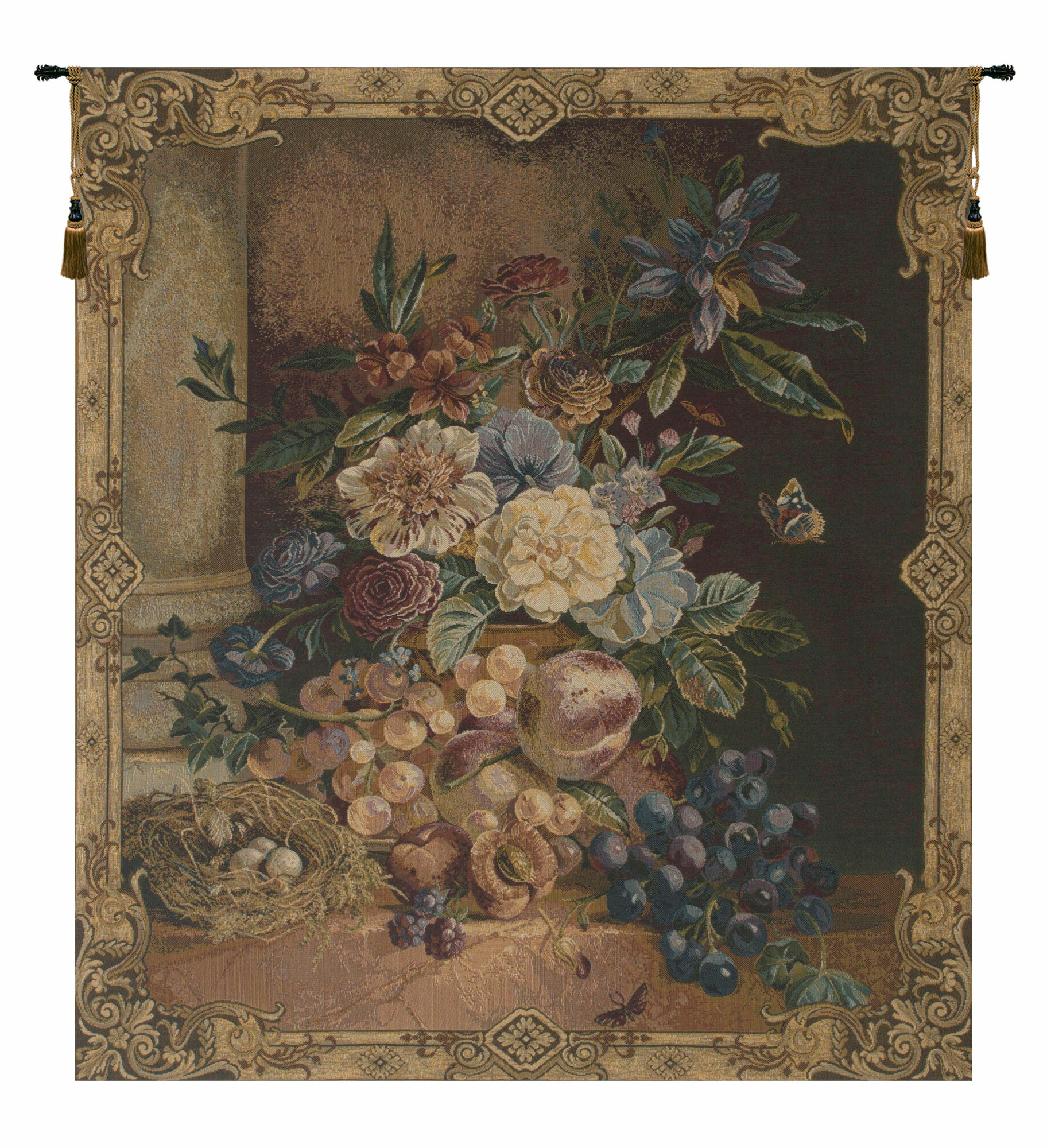 Most Recently Released Frame Of Flowers I European Wall Hanging Within Blended Fabric Autumn Tranquility Verse Wall Hangings (View 9 of 20)