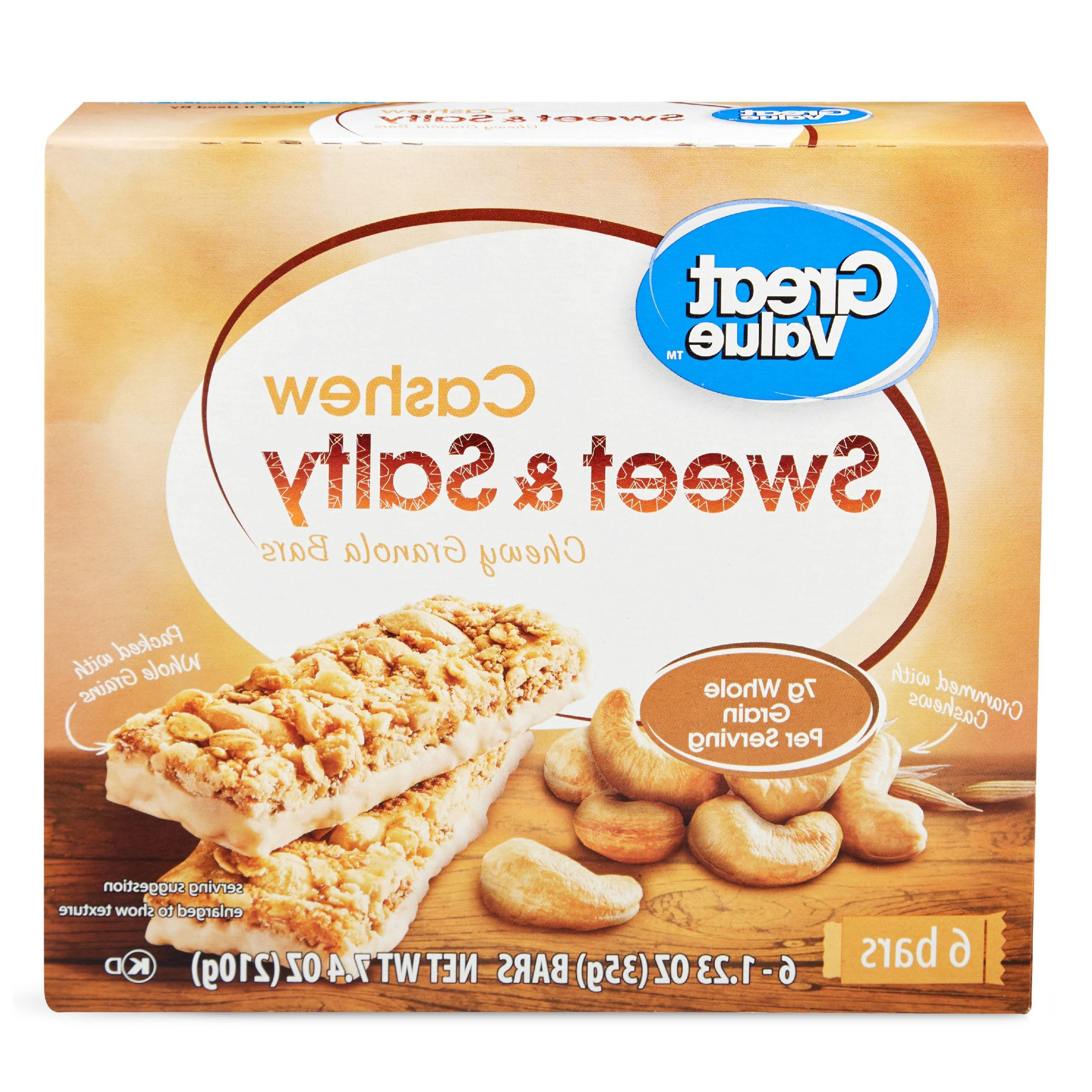 Most Recently Released Great Value Sweet & Salty Chewy Granola Bars, Cashew, (View 16 of 20)