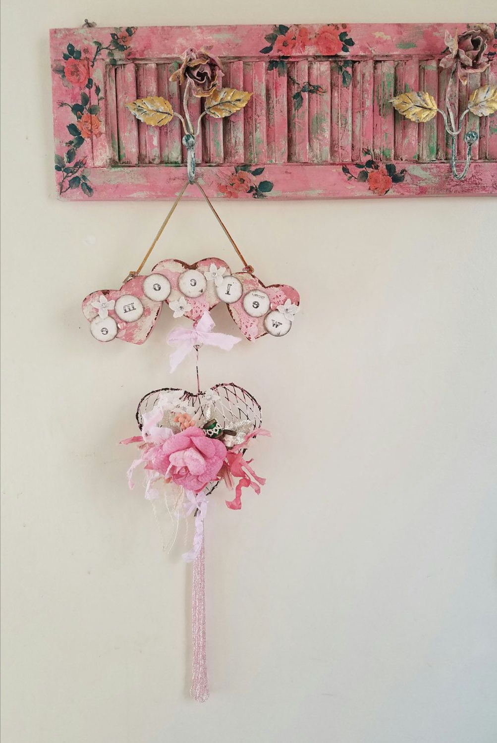 """Most Recently Released Heart Shaped """"home"""" Sign Wall Décor Inside Heart Shaped Wall Decor Welcome Sign Door Wreath Heart Decor (View 7 of 20)"""