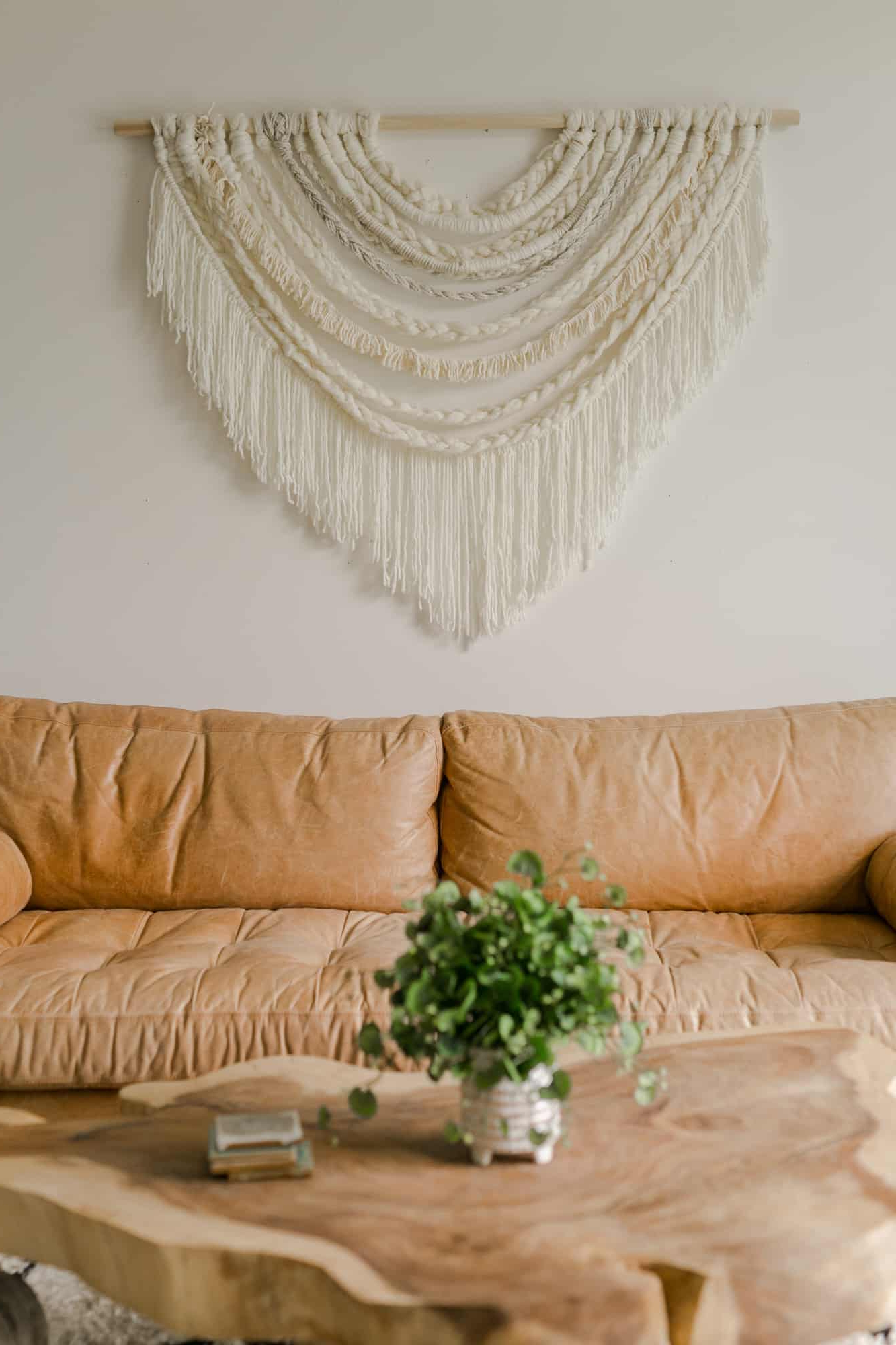 Most Recently Released Large Scale Braided Wall Hanging Diy – A Beautiful Mess For Blended Fabric Wall Hangings With Rod Included (View 15 of 20)