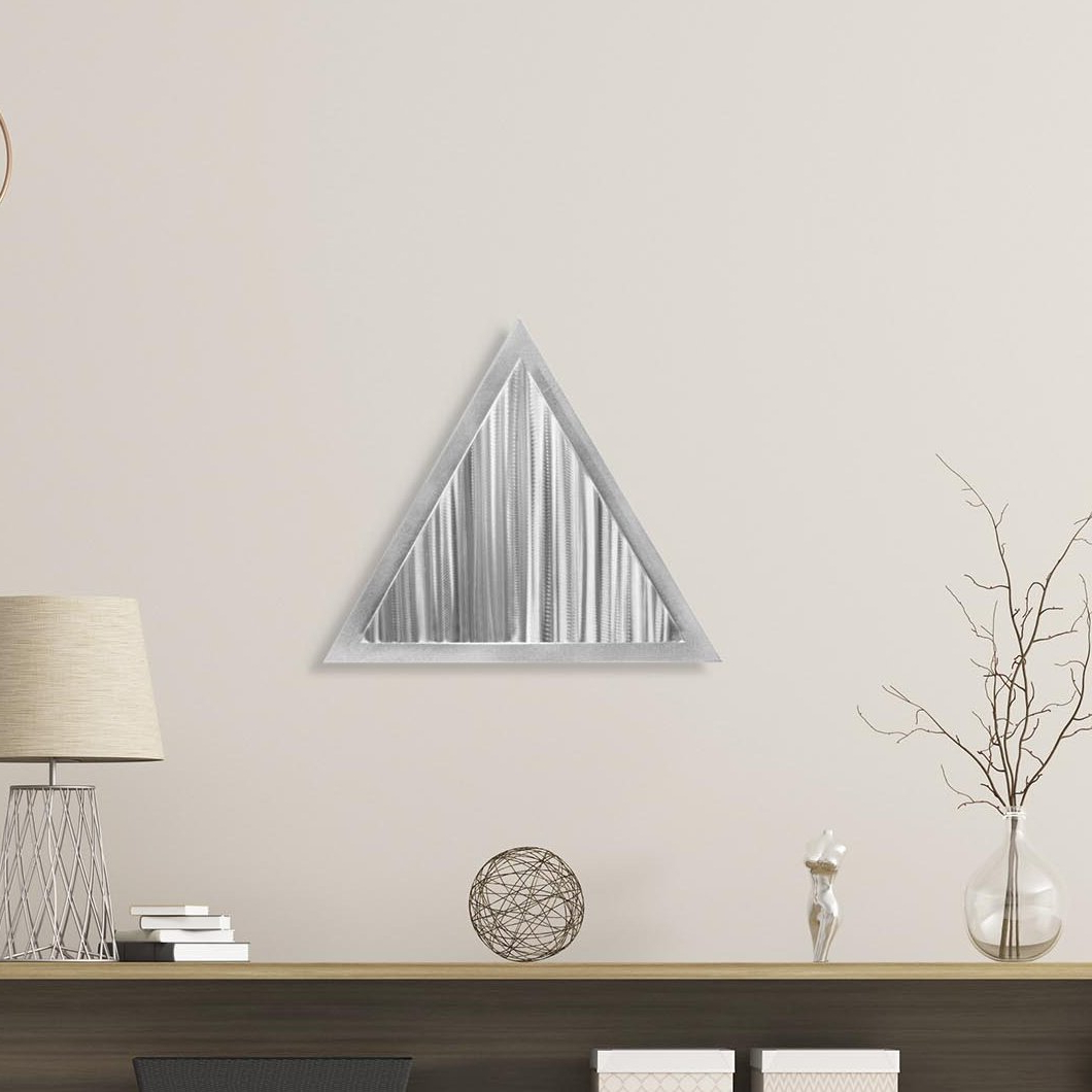 Most Recently Released Linear Angle Metal Wall Décor Regarding Graceful Wall Décor By Orren Ellis (View 3 of 20)