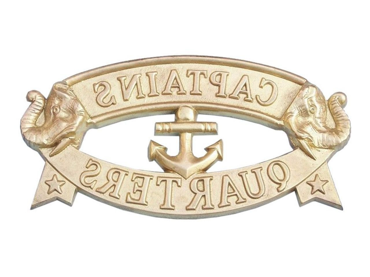 "Most Recently Released Metal Captains Quarters Sign Wall Décor Inside Hampton Nautical Mc 2200ab Solid Brass Captain's Quarters Sign 9"" – Nautical Decor – Nautical Home Decoration (View 13 of 20)"