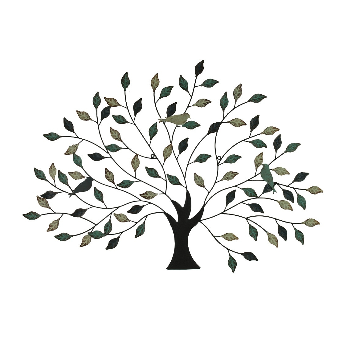 Most Recently Released Tree Branch Wall Décor By Fleur De Lis Living Within 38 Inch Tri Tone Leaves Birds In Branches Metal Tree Indoor Outdoor Wall Decor (View 11 of 20)