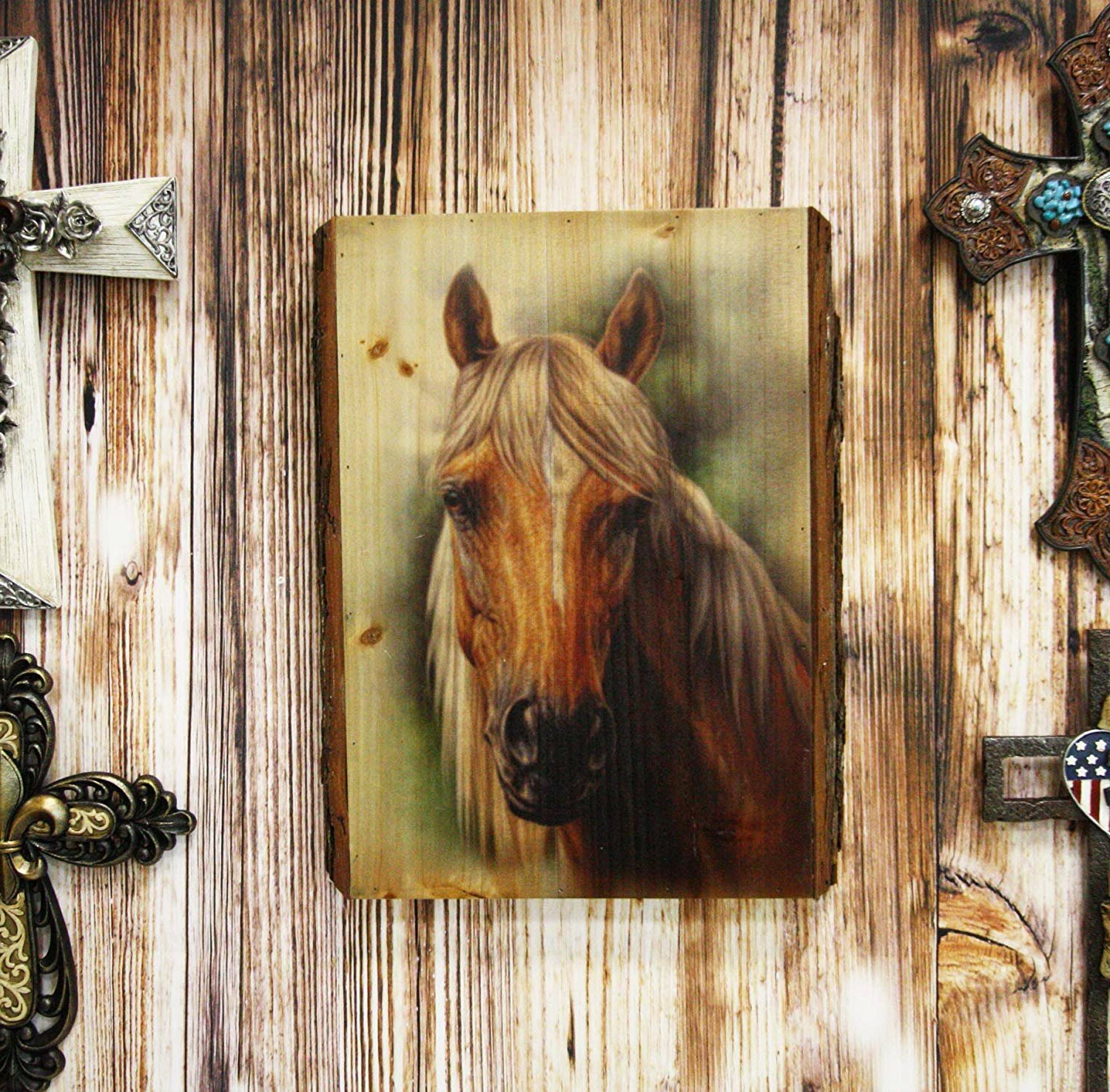 Most Recently Released Wall Sculptures Charlton Home Wood Framed Metal Embossed With Wall Décor By Charlton Home (View 9 of 20)