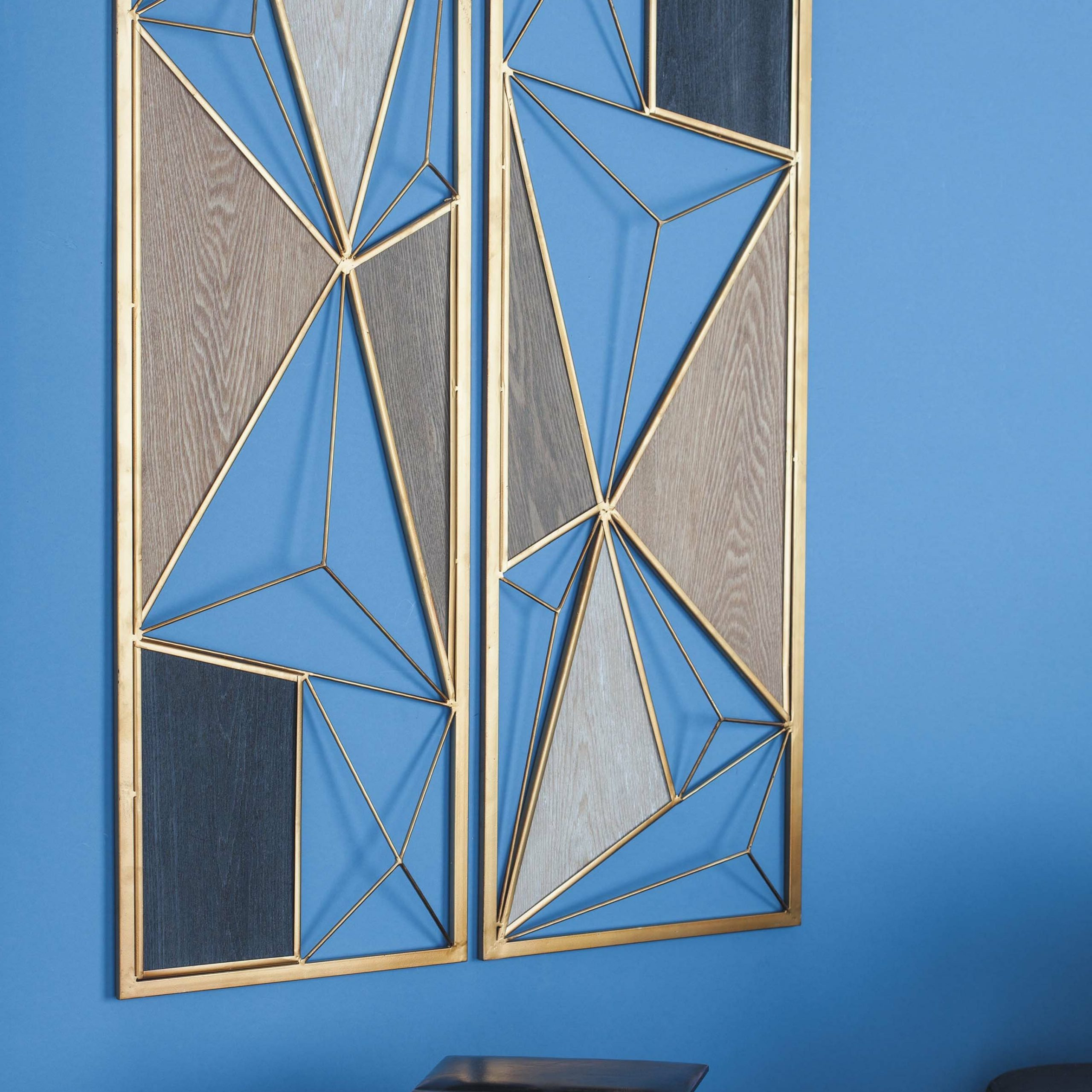 Most Up To Date 2 Piece Metal/wood Wall Décor Set With Metal Wall Décor By Cosmoliving (View 8 of 20)