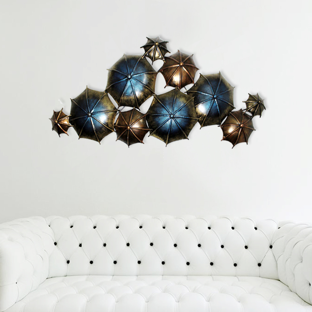 Most Up To Date Antique Metal Umbrella Shaped Metal Wall Decor With Antique Iron Alloy Wall Décor (View 5 of 20)