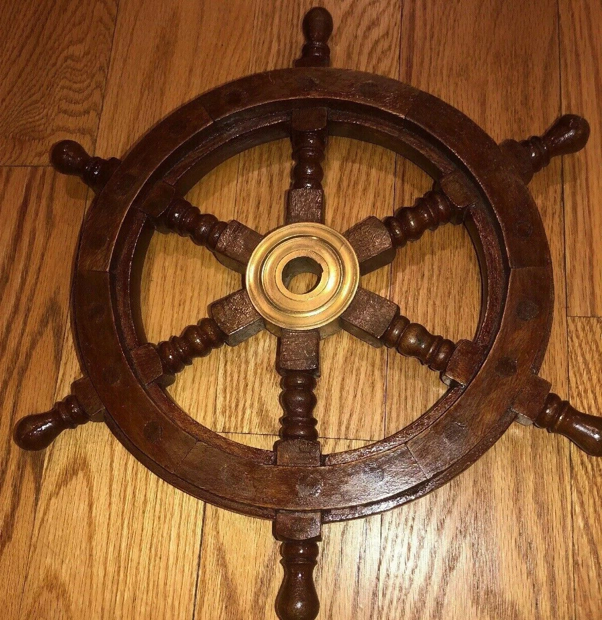 Most Up To Date Brown/brass Wood Ship Wheel Wall Décor Pertaining To $ (View 16 of 20)