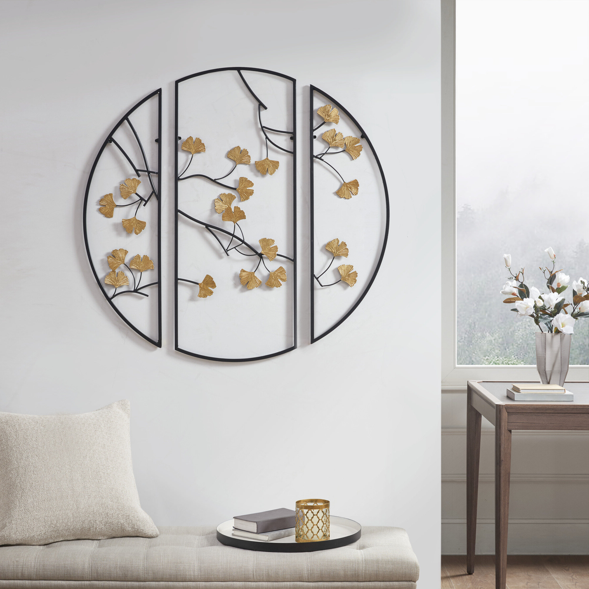Most Up To Date Ginkgo Leaf Metal Wall Décor By Winston Porter Intended For 3 Piece Gingko Leaves Wall Décor Set (View 5 of 20)