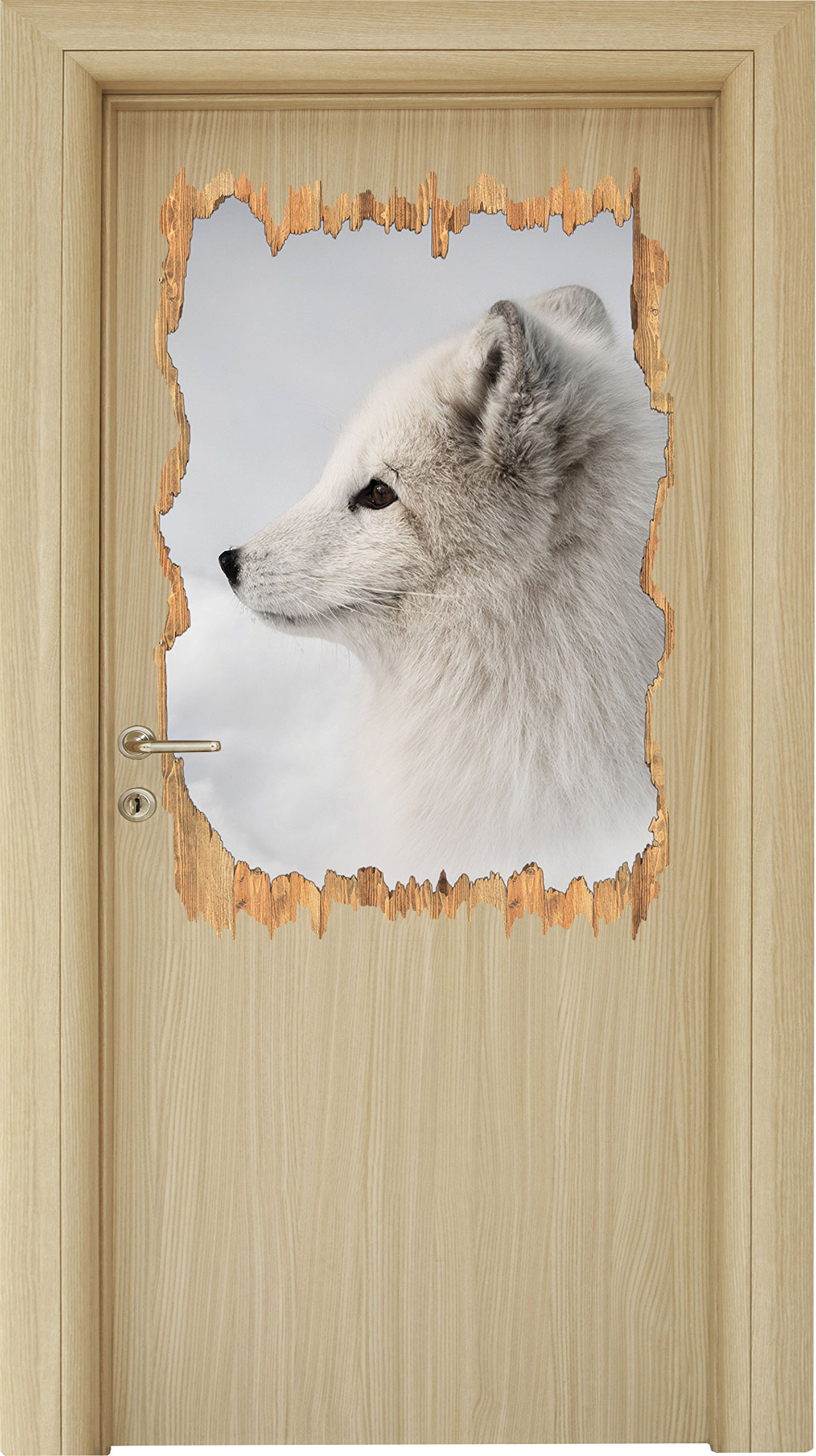 Most Up To Date Graceful Arctic Fox In Snow Wood Breakthrough In 3d Look Regarding Graceful Over The Door Wall Décor (View 12 of 20)