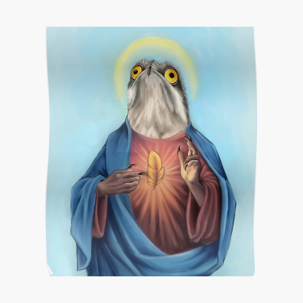 """Most Up To Date Our Lord And Savior Potoo Bird"""" Tapestrydragongirl222 Inside Birds Face To Face I European Tapestries (View 14 of 20)"""