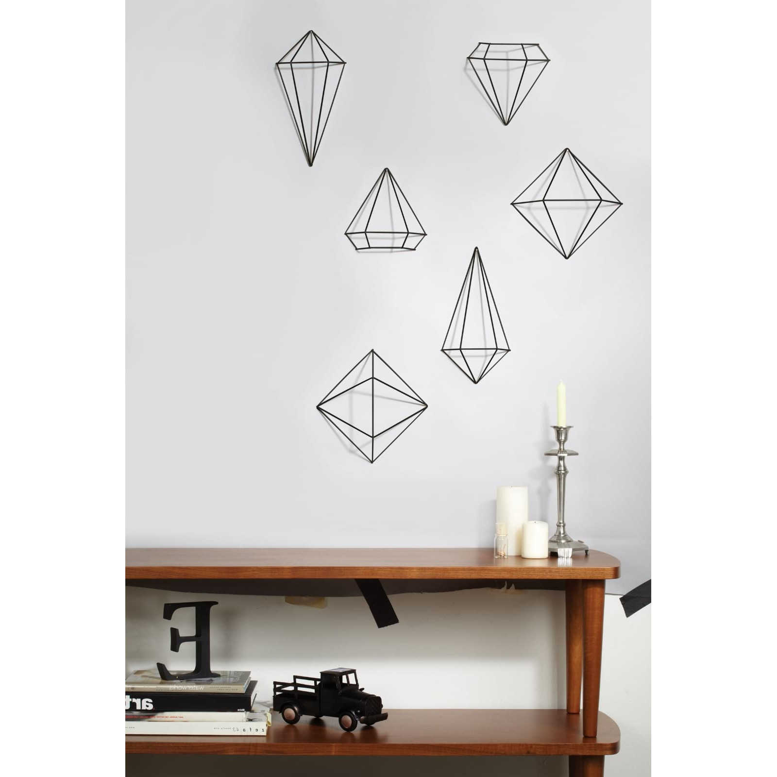 Most Up To Date Prisma Wall Decor Set Of 6 (black) – Umbra With 3 Piece Prisma Wall Décor Set (View 14 of 20)