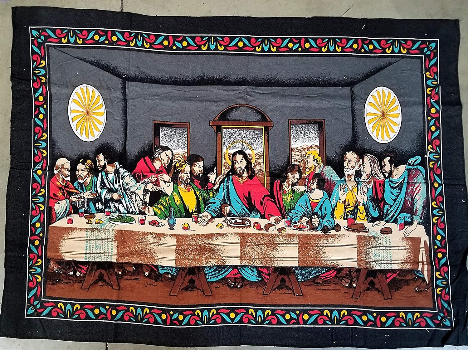 Most Up To Date Religion Jesus The Last Supper Wall Tapestry With Blended Fabric Garden Of Gethsemane Tapestries And Wall Hangings (View 10 of 20)