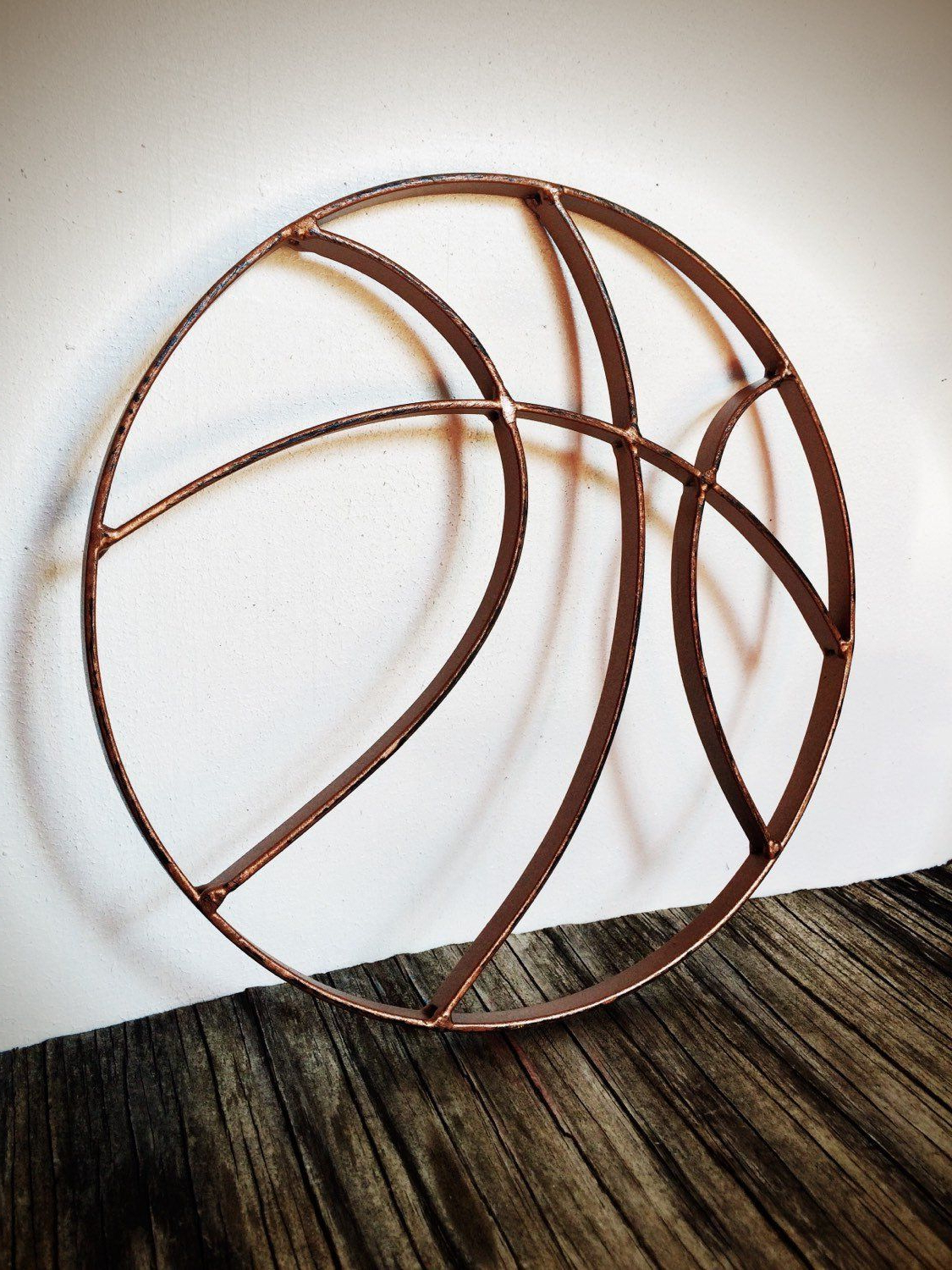 Most Up To Date Rustic Hammered Copper Metal Basketball Wall Art Hanging Inside Copper Rustic Iron Wall Décor (View 4 of 20)