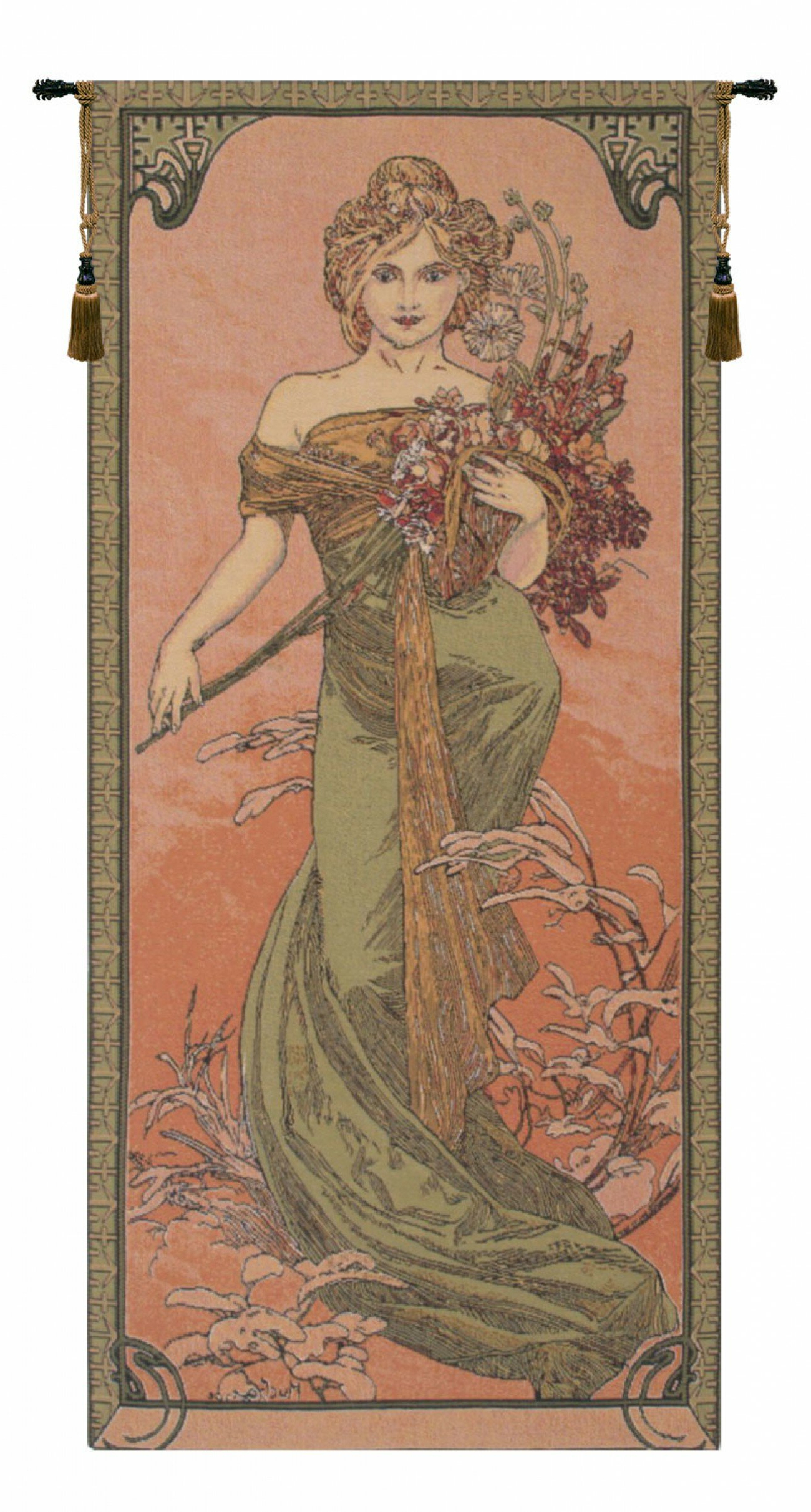 Featured Photo of Blended Fabric Mucha Spring European Wall Hangings