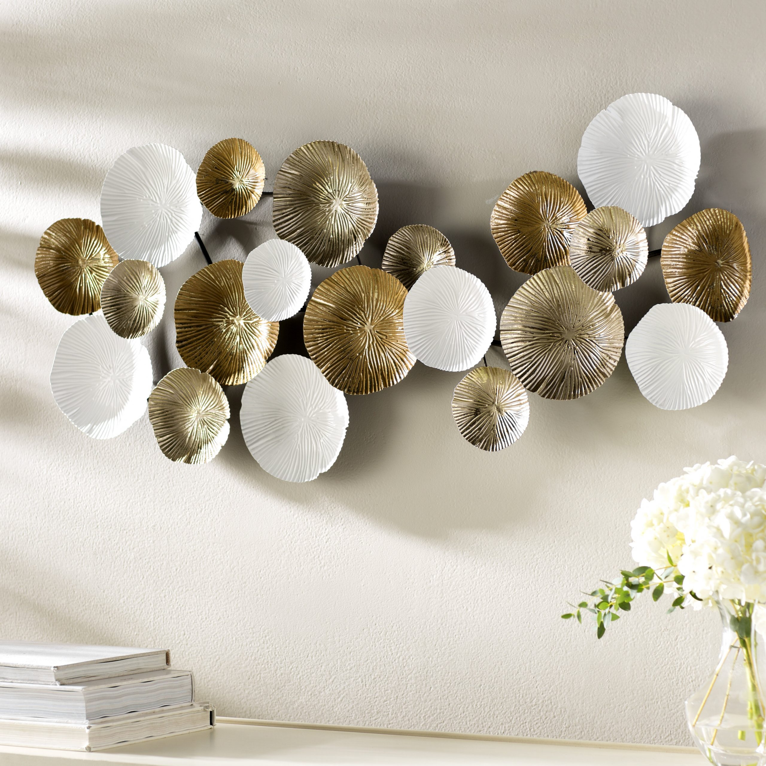 Multi Circles Metal Wall Décor Intended For Popular Metal Capiz Wall Decor By Wrought Studio (Gallery 3 of 20)