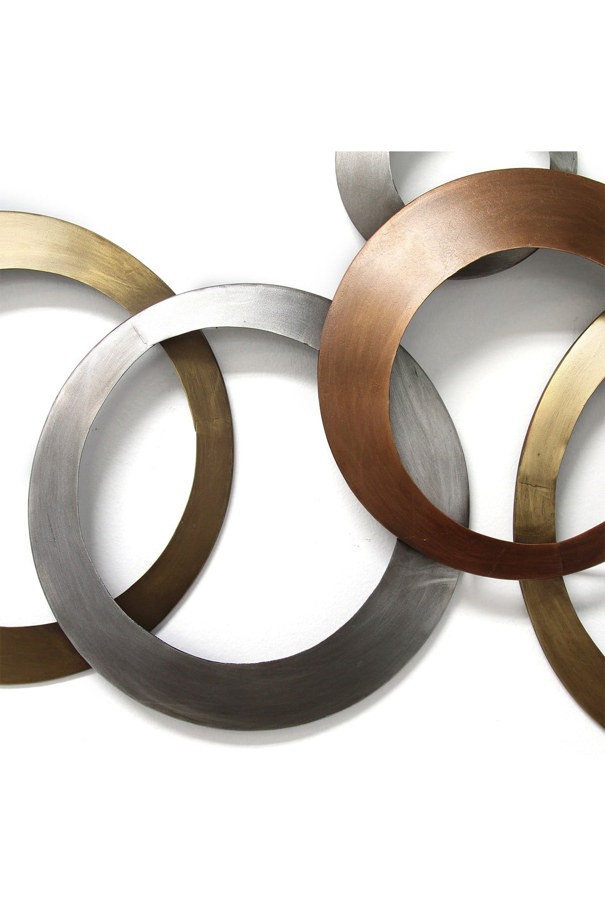 Multi Metallic Rings Wall Decor (View 10 of 20)