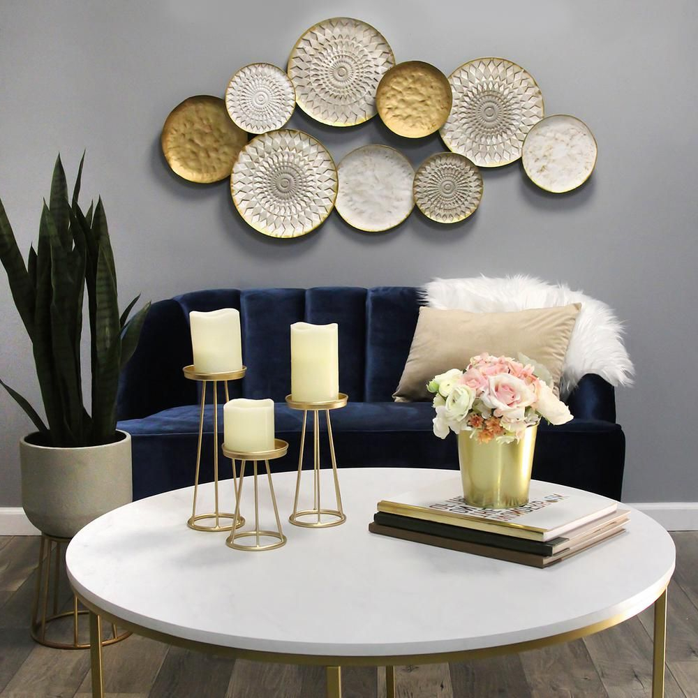 Multi Plates Wall Décor By Stratton Home Decor For Recent Stratton Home Decor Soho Metal Plates Statement Wall Dcor (View 5 of 20)
